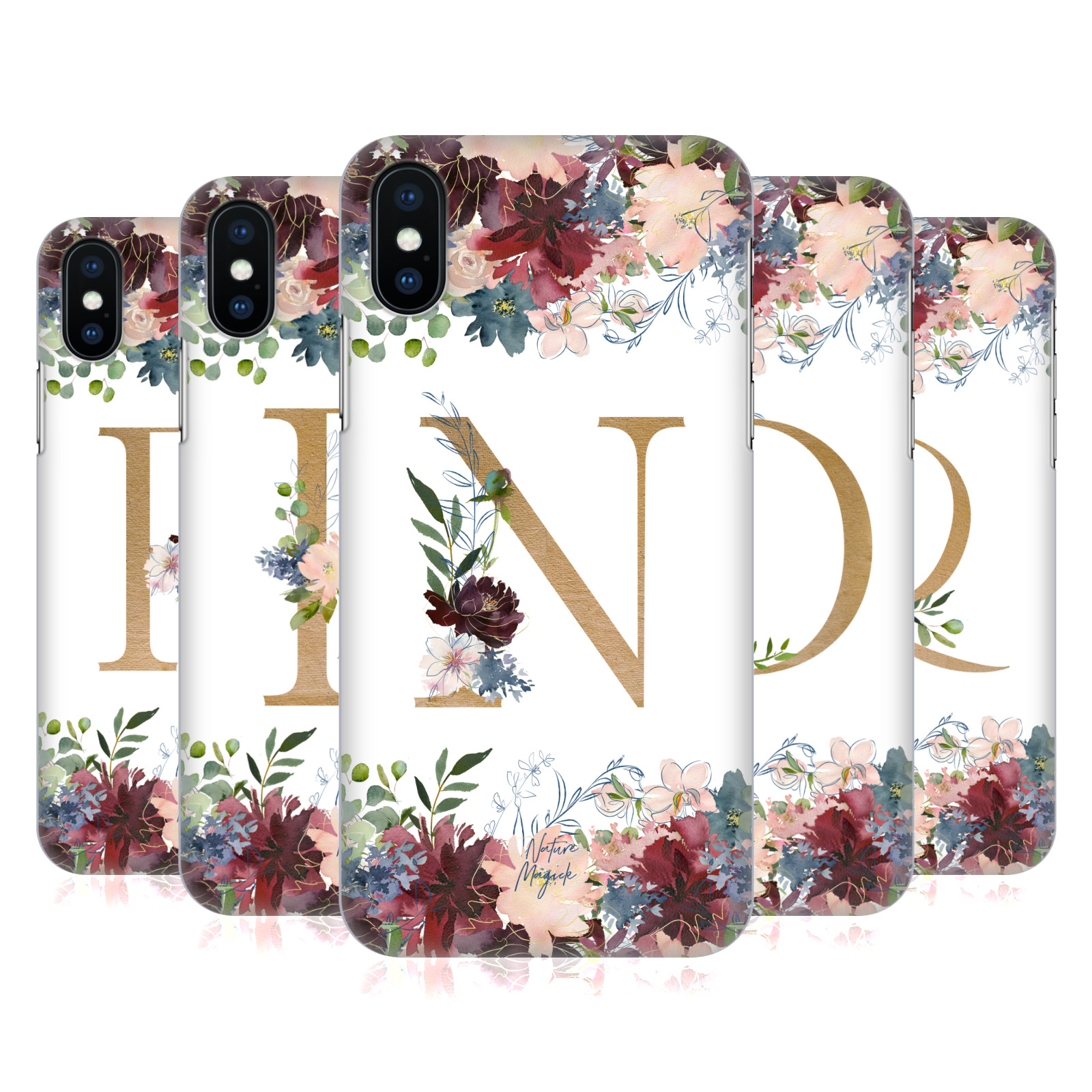 Nature Magick Flowers Monogram Floral Gold 2