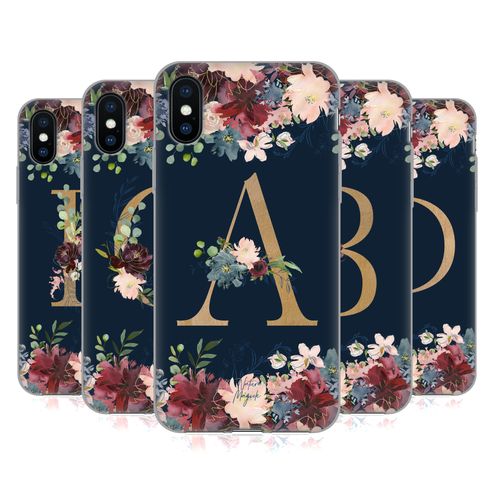 Nature Magick <!--translate-lineup-->Floral Monogram Gold Navy<!--translate-lineup-->