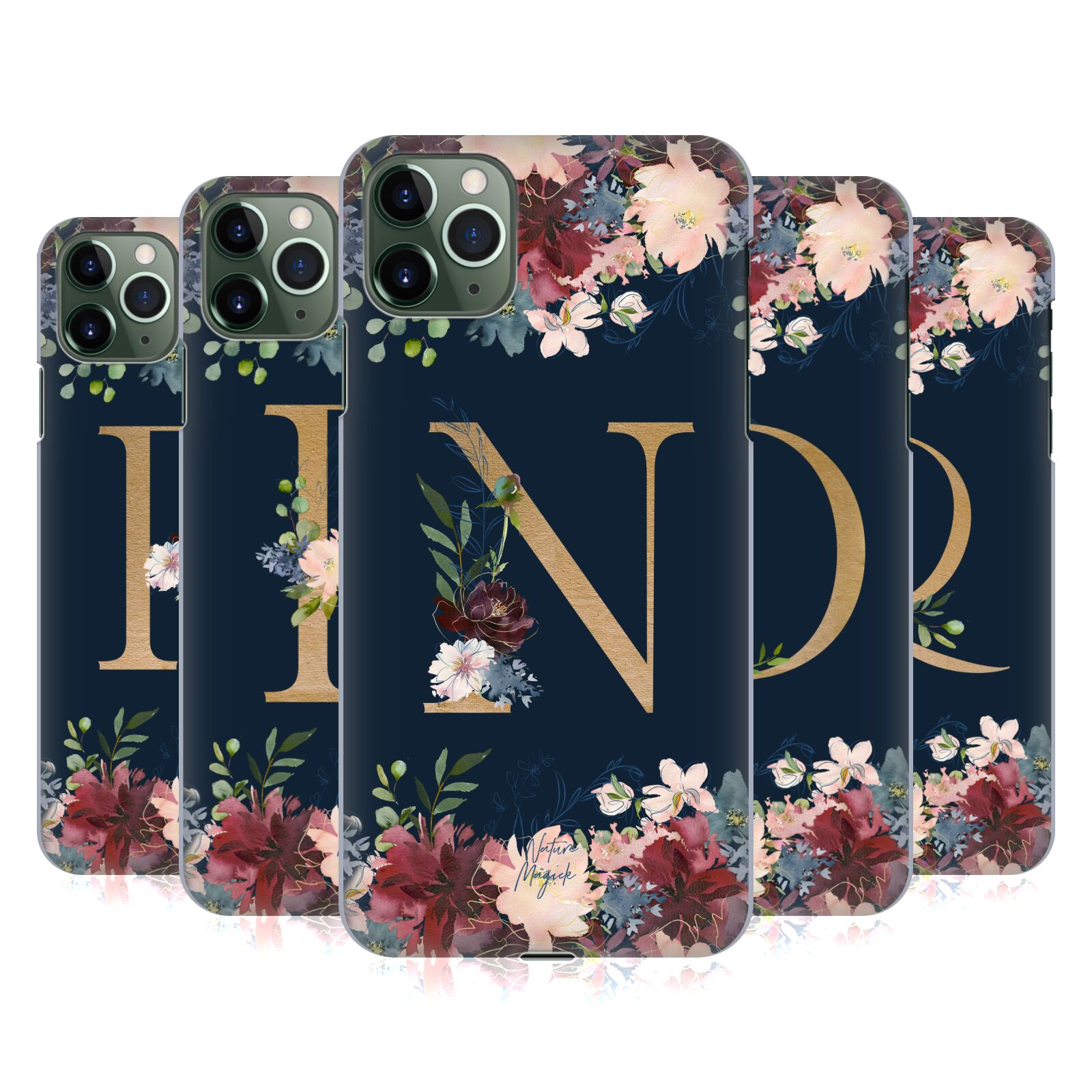 Official Nature Magick Floral Monogram Gold Navy 2