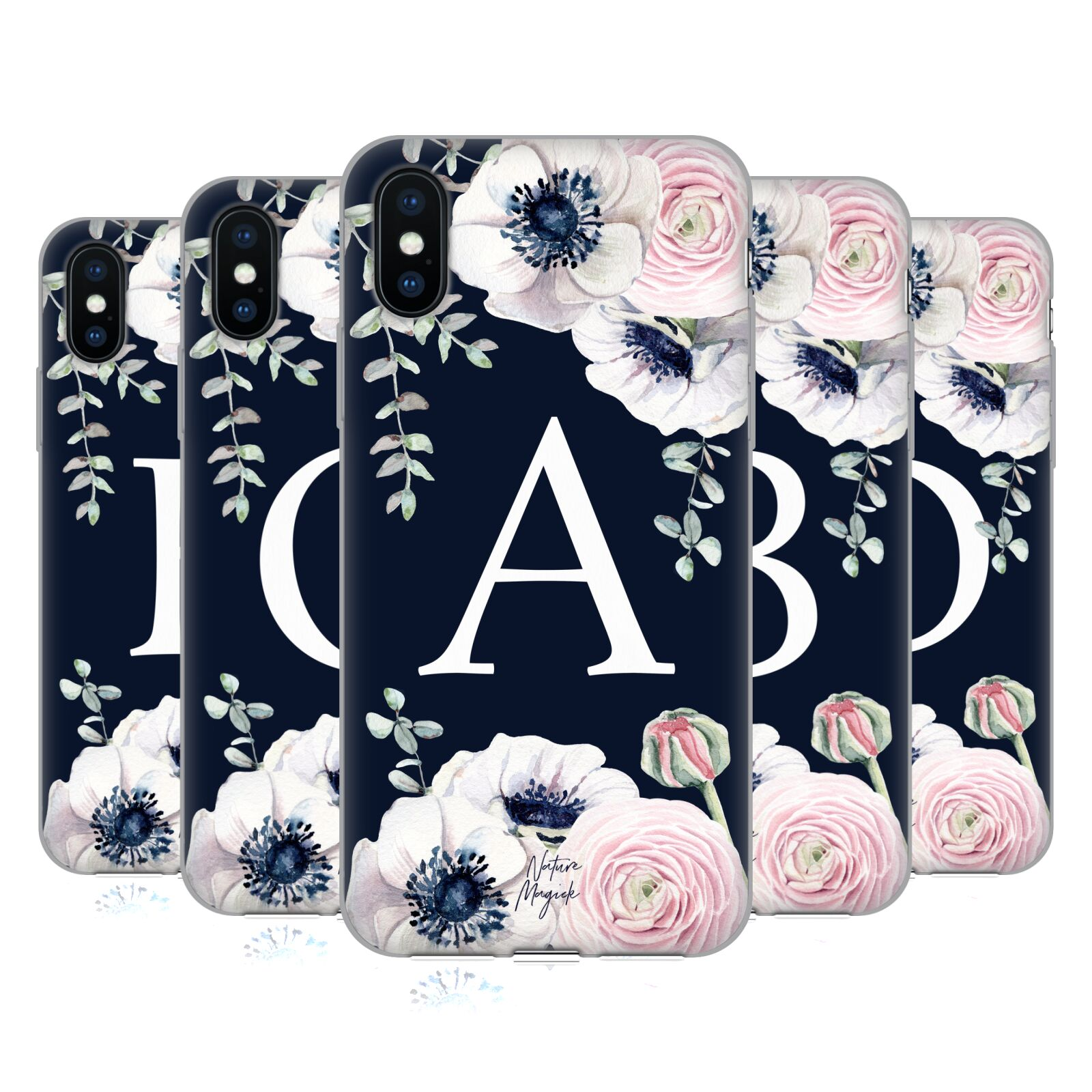 Nature Magick <!--translate-lineup-->Floral Monogram Navy Flowers 1<!--translate-lineup-->