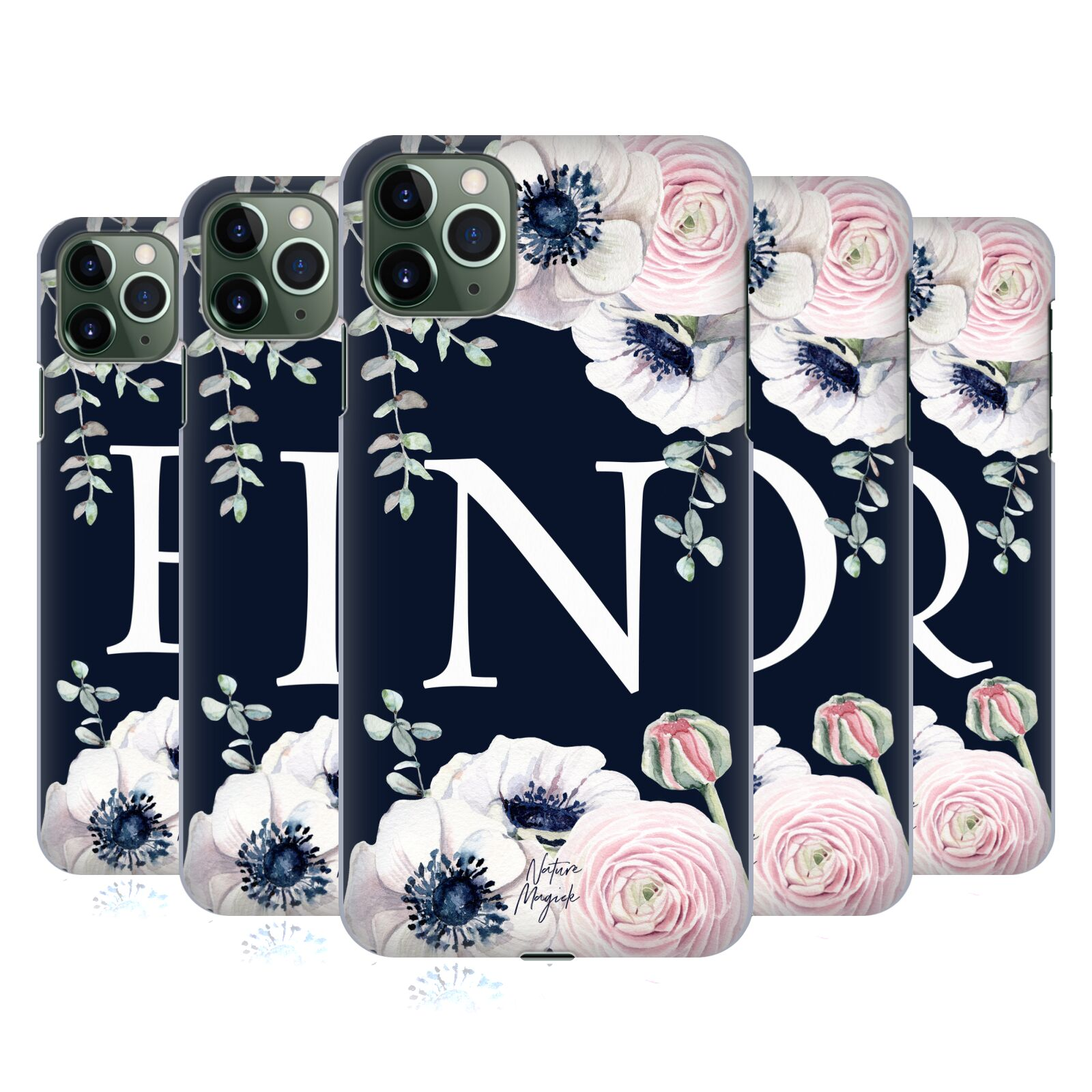 Official Nature Magick Floral Monogram Navy Flowers 2