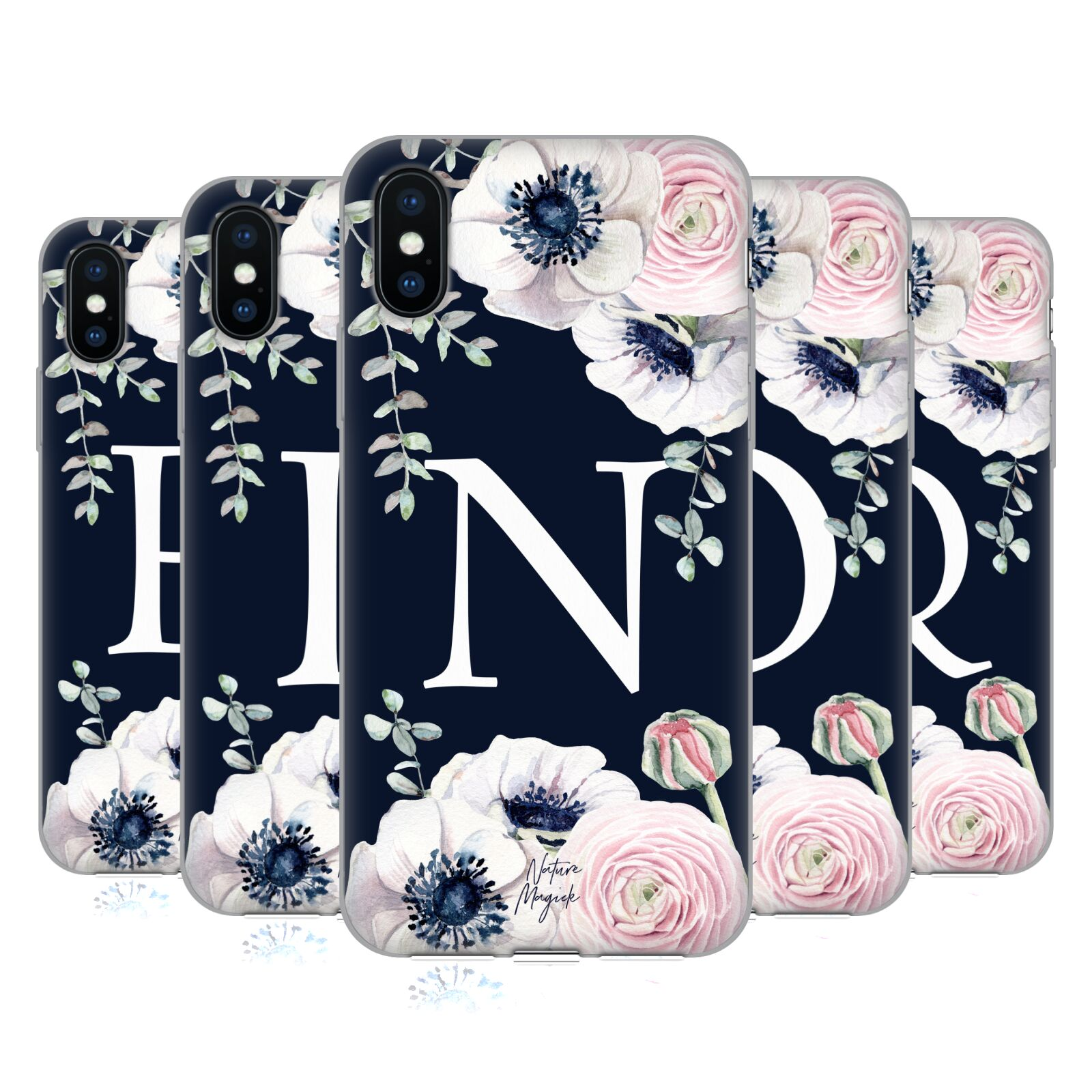 Nature Magick <!--translate-lineup-->Floral Monogram Navy Flowers 2<!--translate-lineup-->