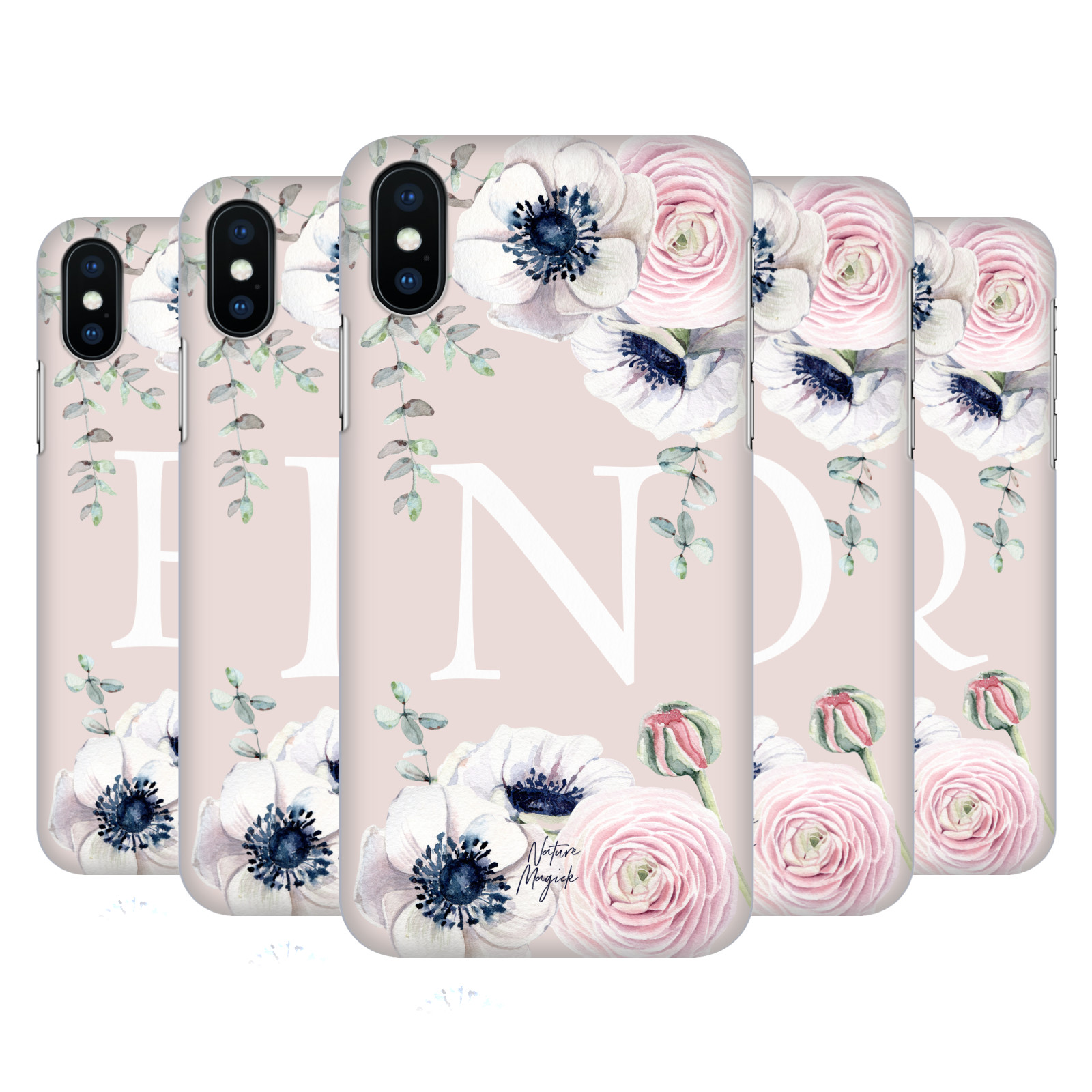 Nature Magick Floral Monogram Pink Flowers 2