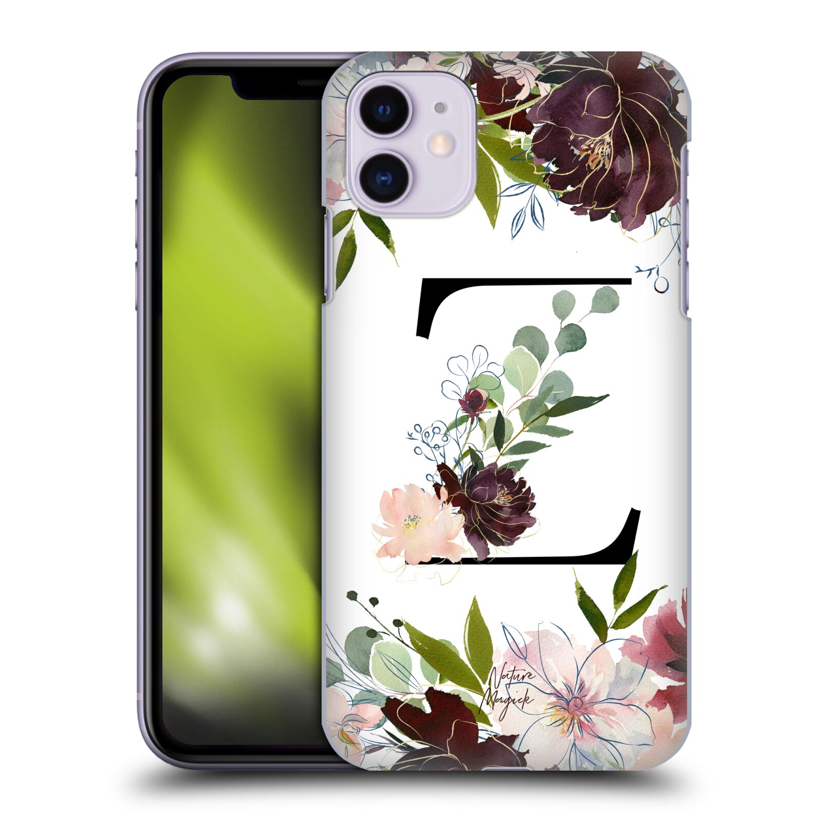Official Nature Magick Monogram Garden Flowers 2 Letter Z Back Case for Apple iPhone 11