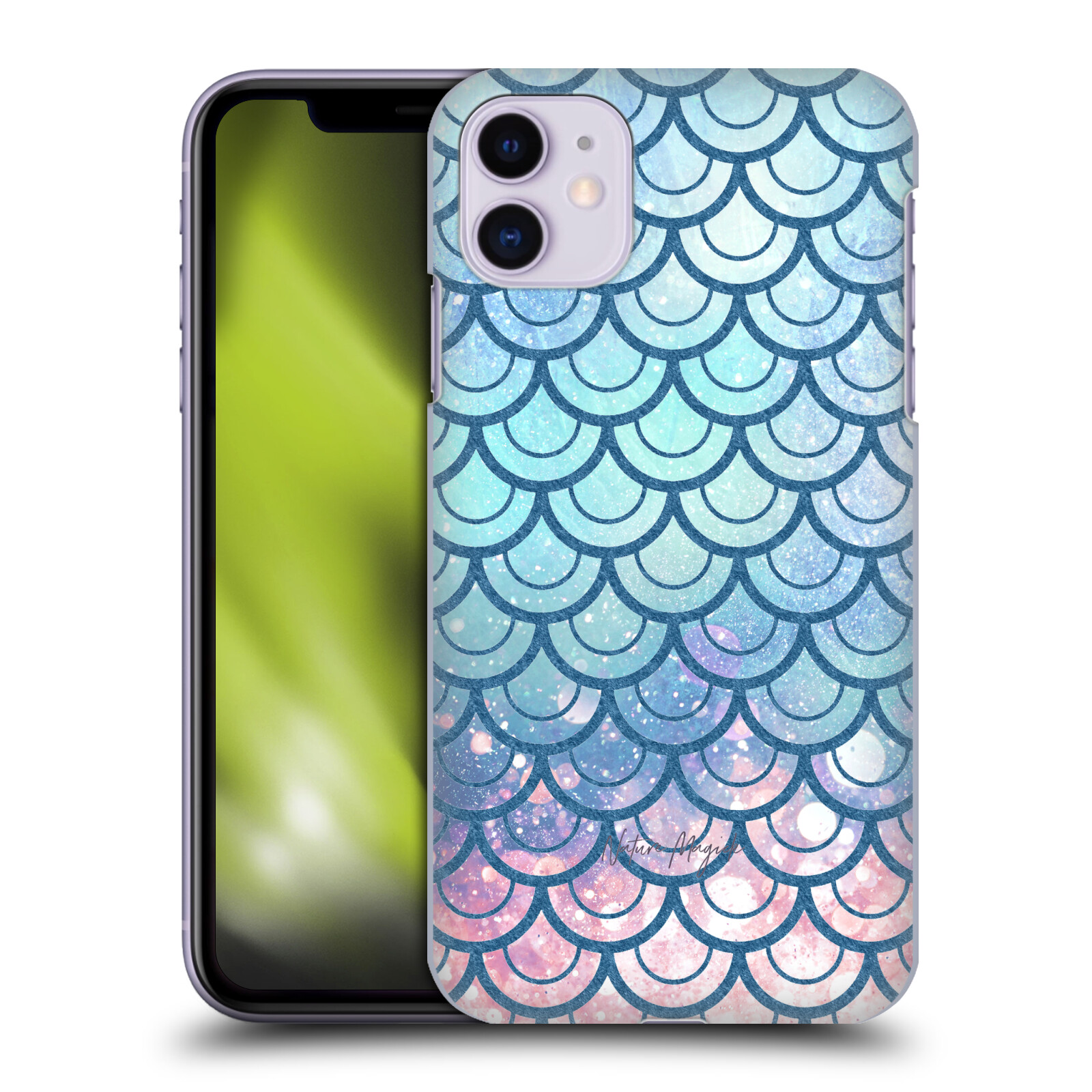 Official Nature Magick Mermaid Scales Teal Pink Teal Green Pink Back Case for Apple iPhone 11