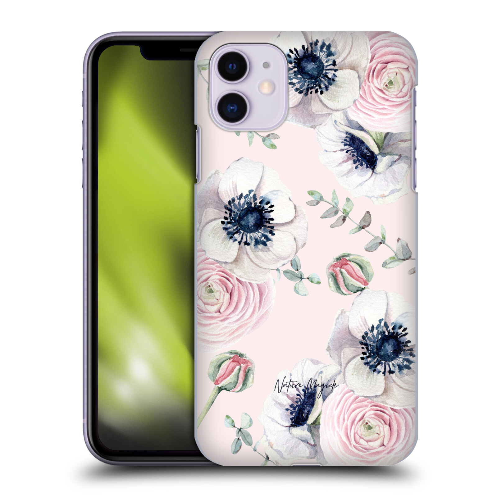 Official Nature Magick Pretty Watercolor Roses Floral Pastel Pink Floral Garden Back Case for Apple iPhone 11