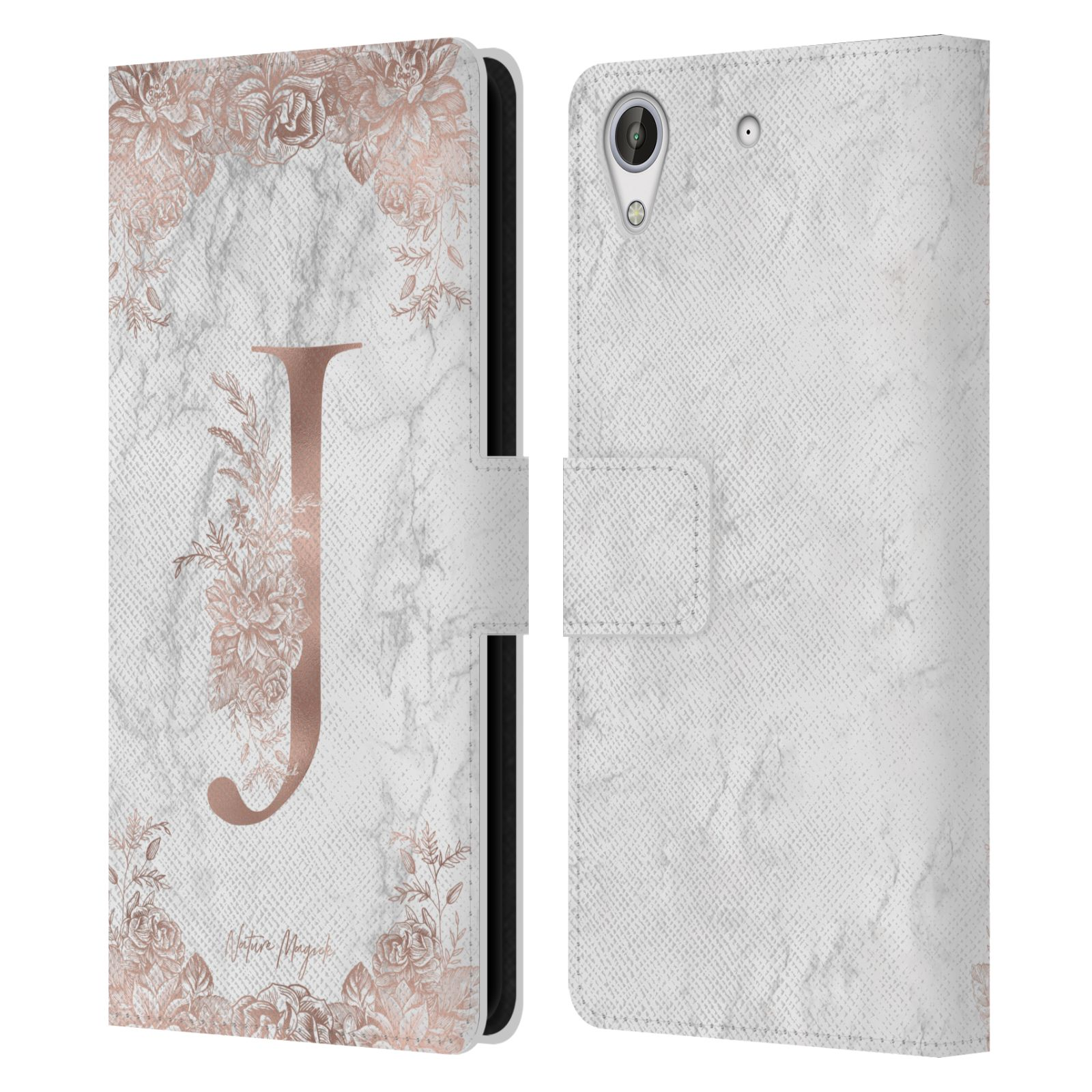 NATURE-MAGICK-ROSE-GOLD-MARBLE-MONOGRAM-LEATHER-BOOK-CASE-FOR-HTC-PHONES-2