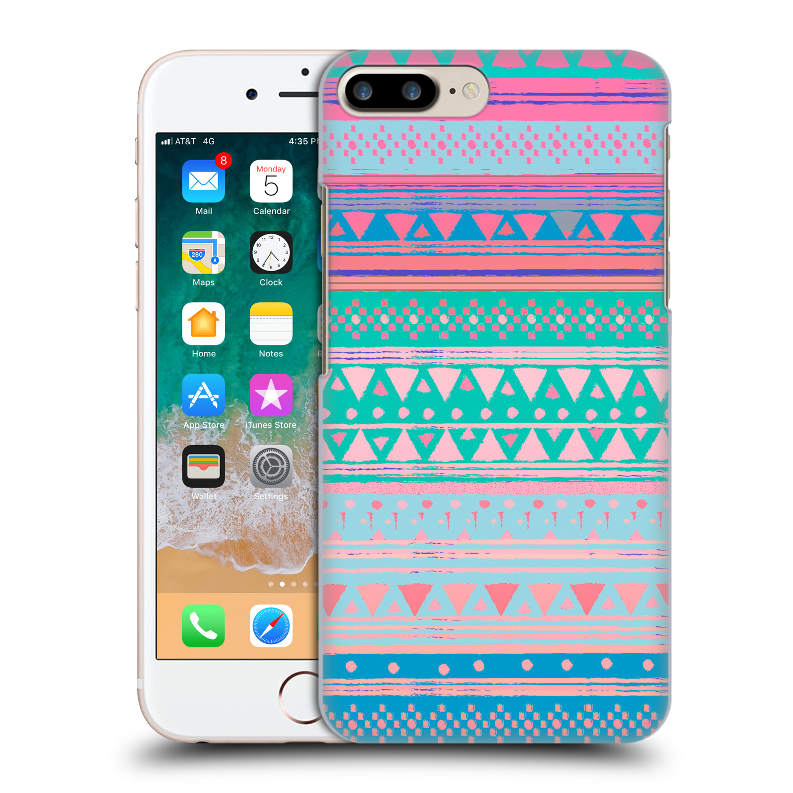 Official Nika Martinez Tribal Prints Boho Native Bandana Case for Apple iPhone 7 Plus / iPhone 8 Plus