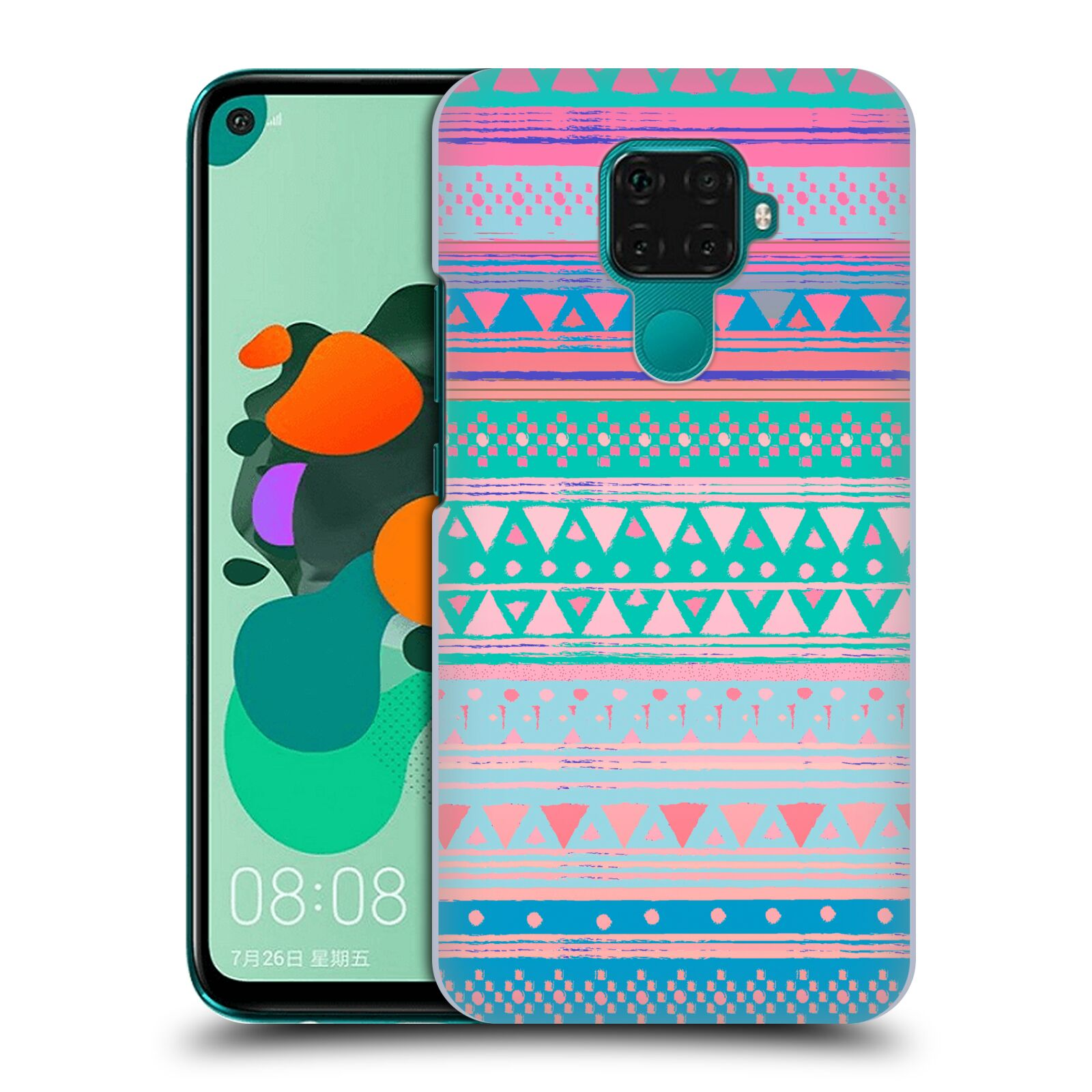 Official Nika Martinez Tribal Prints Boho Native Bandana Case for Huawei Nova 5i Pro/Mate 30 Lite