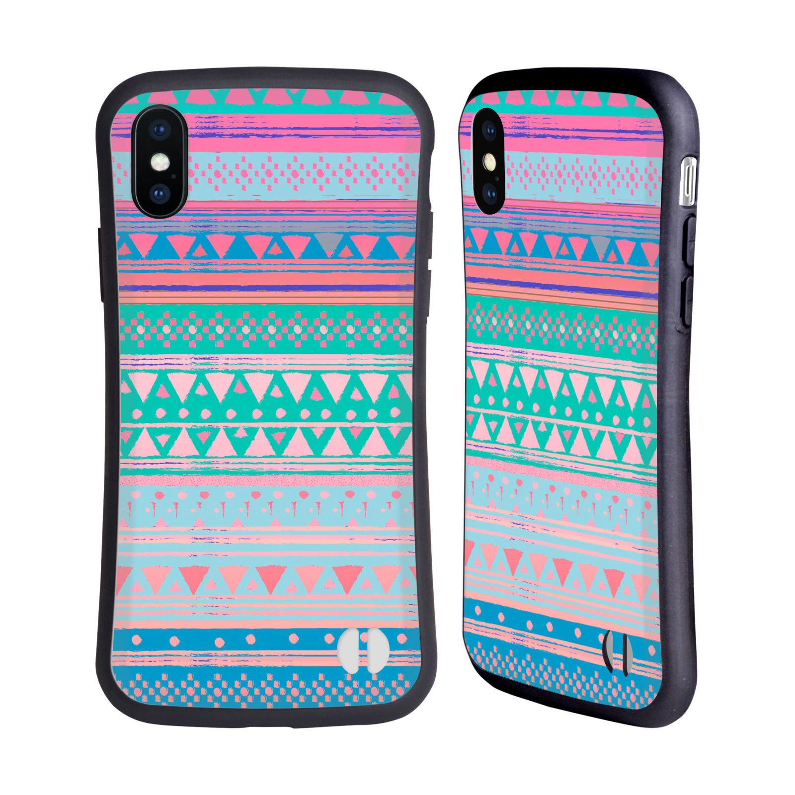 Official Nika Martinez Tribal Prints Boho Native Bandana Hybrid Case for Apple iPhone X / iPhone XS