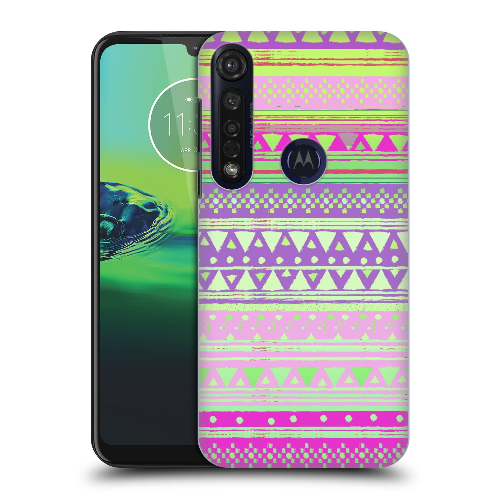 Official Nika Martinez Tribal Prints Fresh Native Bandana Case for Motorola Moto G8 Plus