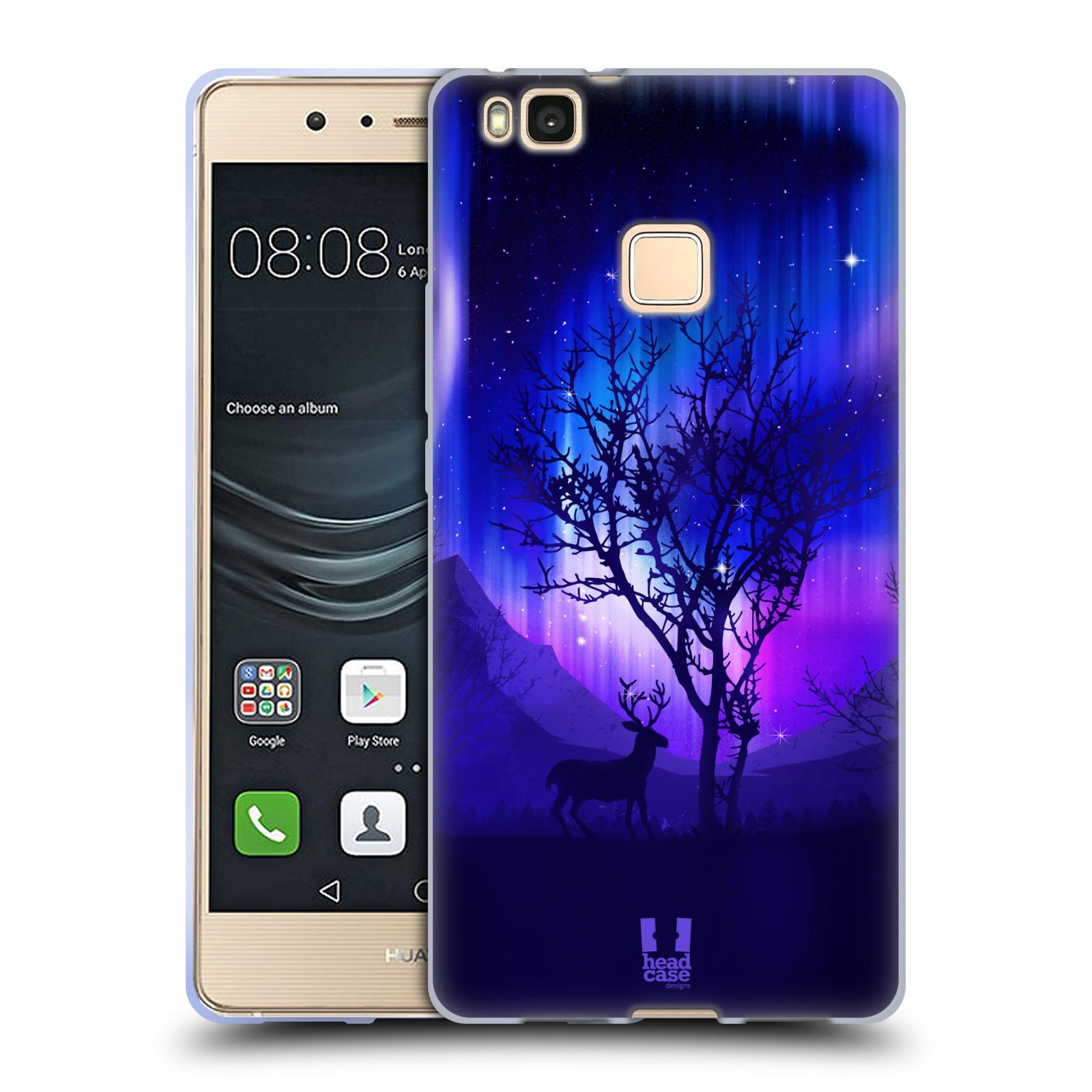 Silikonové pouzdro na mobil Huawei P9 Lite - Head Case - POLÁRNÍ ZÁŘE STROM