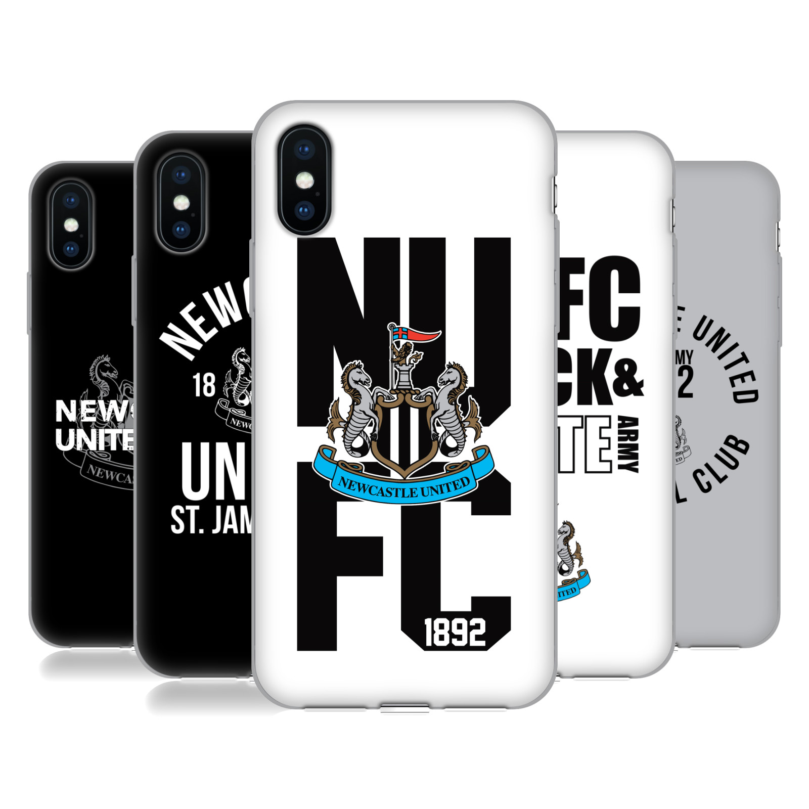 Newcastle United FC NUFC 2018/19 Crest Typography