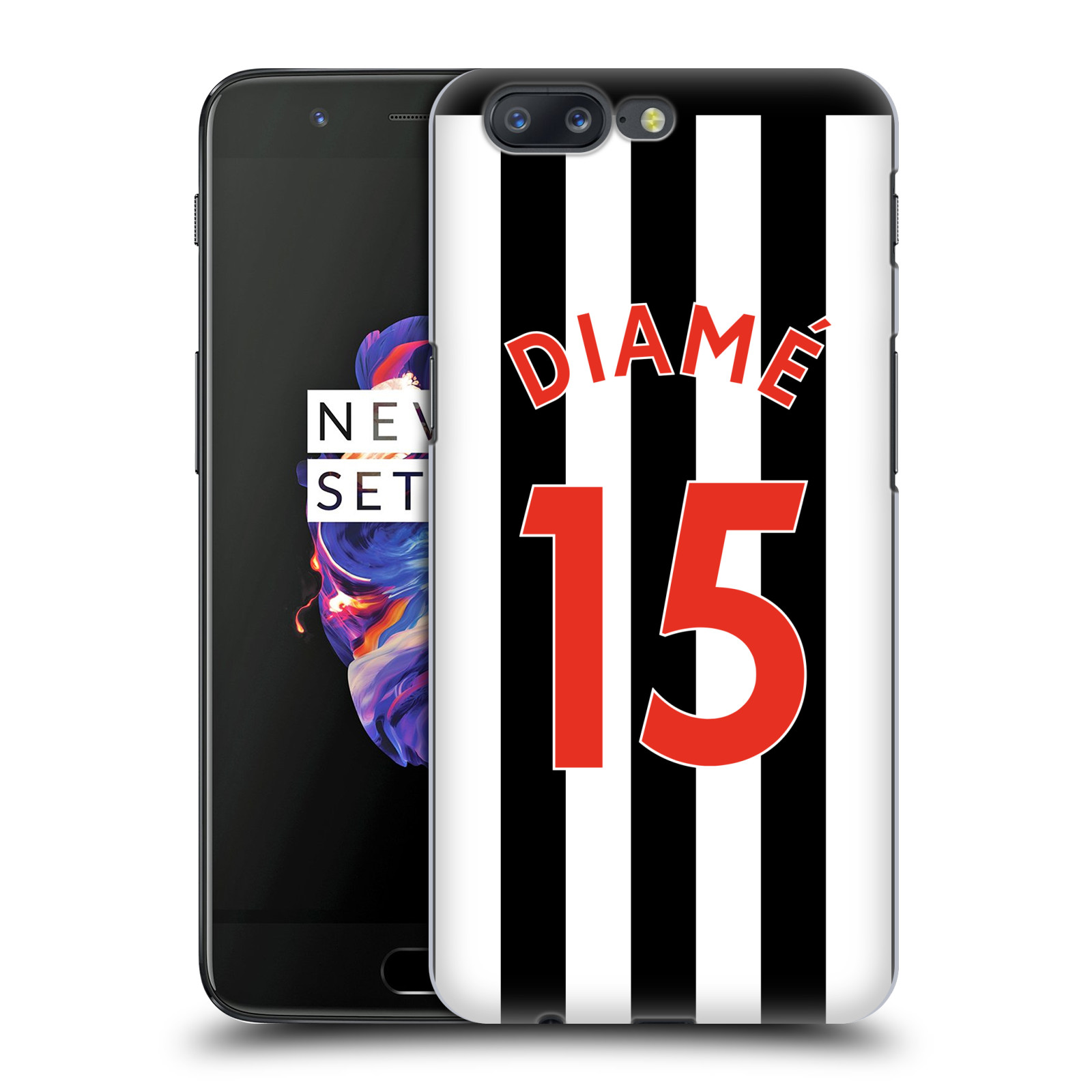 Newcastle-United-FC-NUFC-2017-18-Home-Kit-2-Back-Case-for-OnePlus-Asus-Amazon