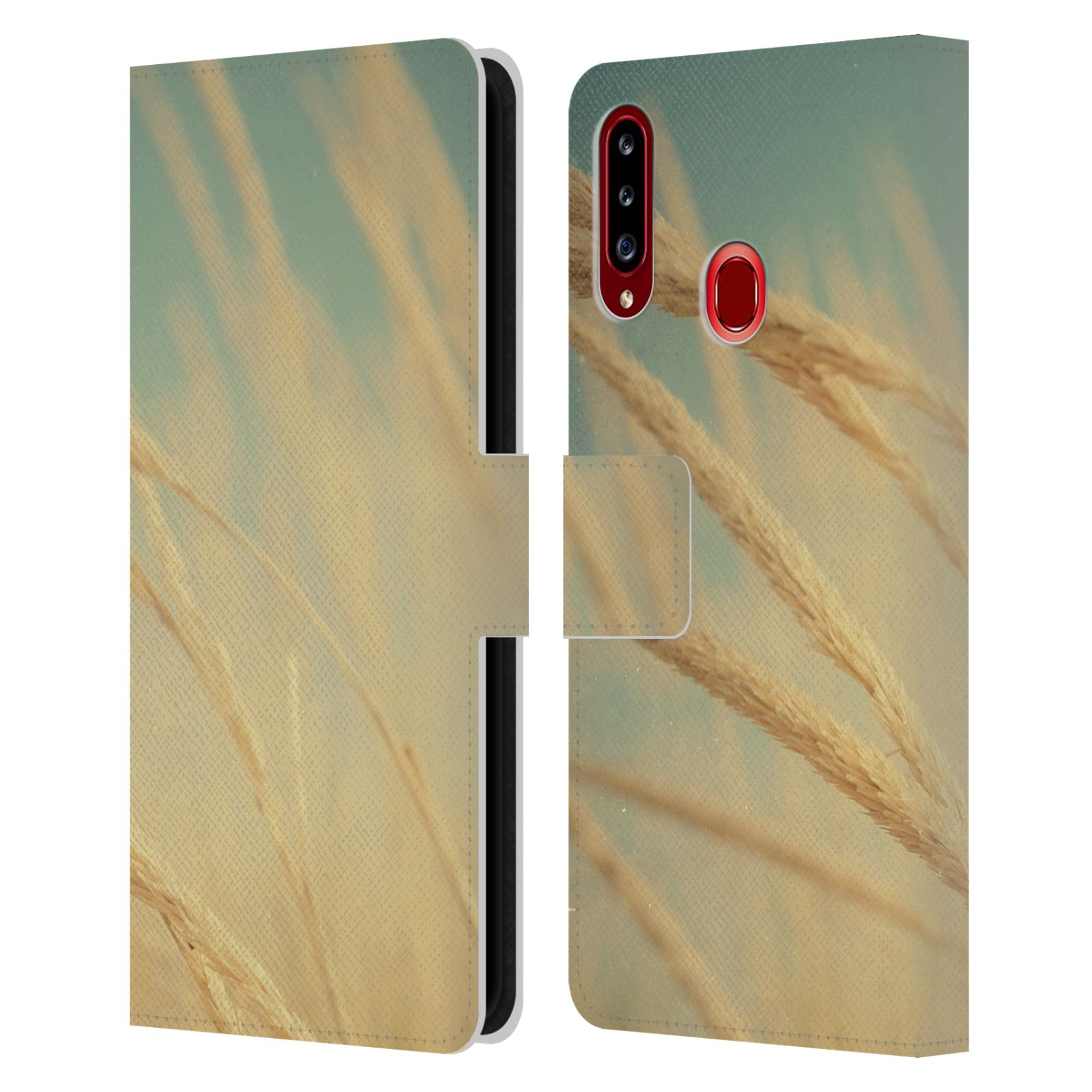 Official Olivia Joy StClaire Nature Sea Grass Leather Book Wallet Case For Samsung Galaxy A20s (2019)