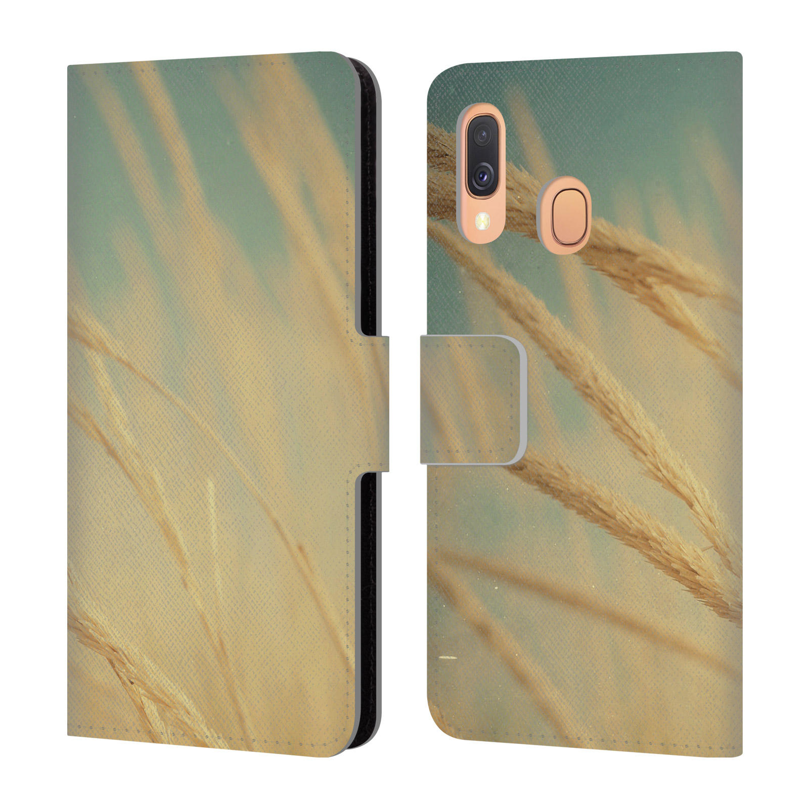 Official Olivia Joy StClaire Nature Sea Grass Leather Book Wallet Case For Samsung Galaxy A40 (2019)