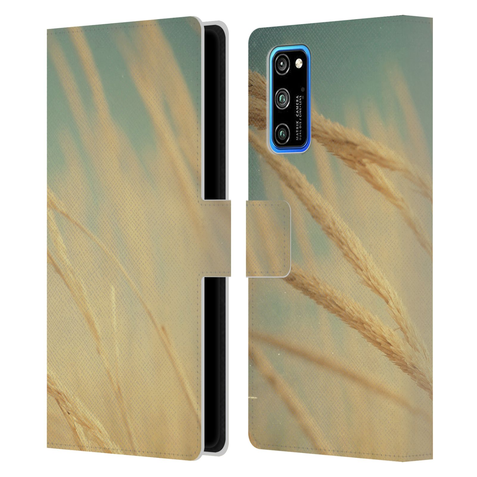 Official Olivia Joy StClaire Nature Sea Grass Leather Book Wallet Case For Huawei Honor V30 Pro / View 30 Pro