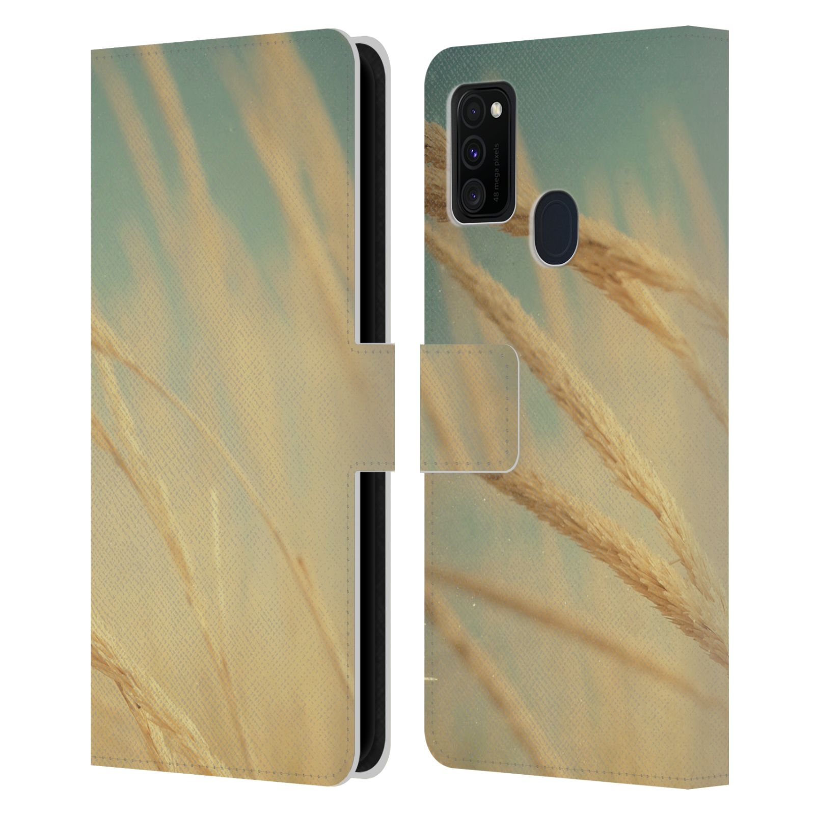 Official Olivia Joy StClaire Nature Sea Grass Leather Book Wallet Case For Samsung Galaxy M30s (2019)