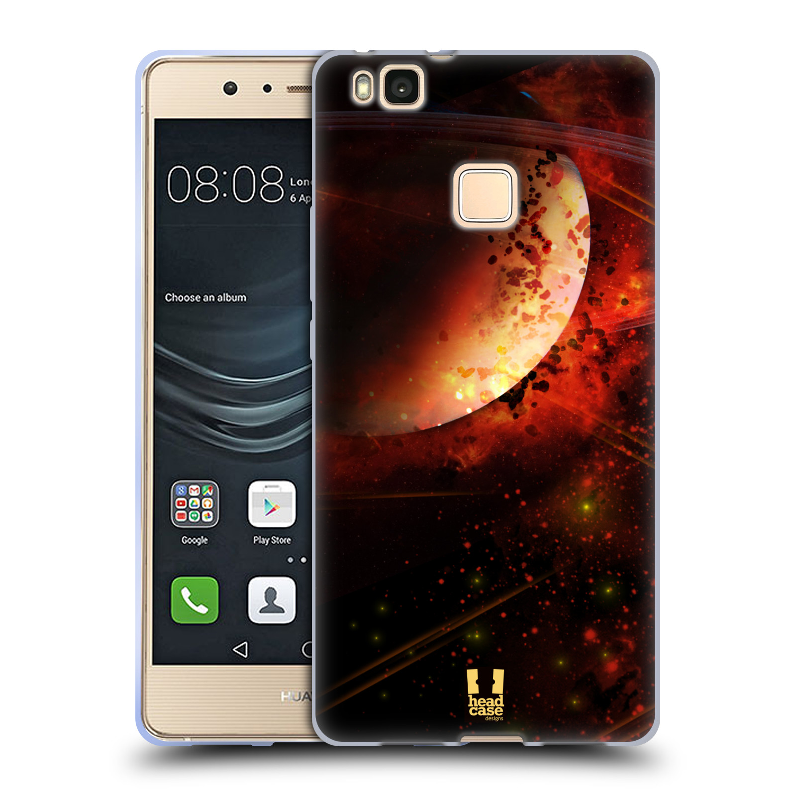 Silikonové pouzdro na mobil Huawei P9 Lite - Head Case - SATURN