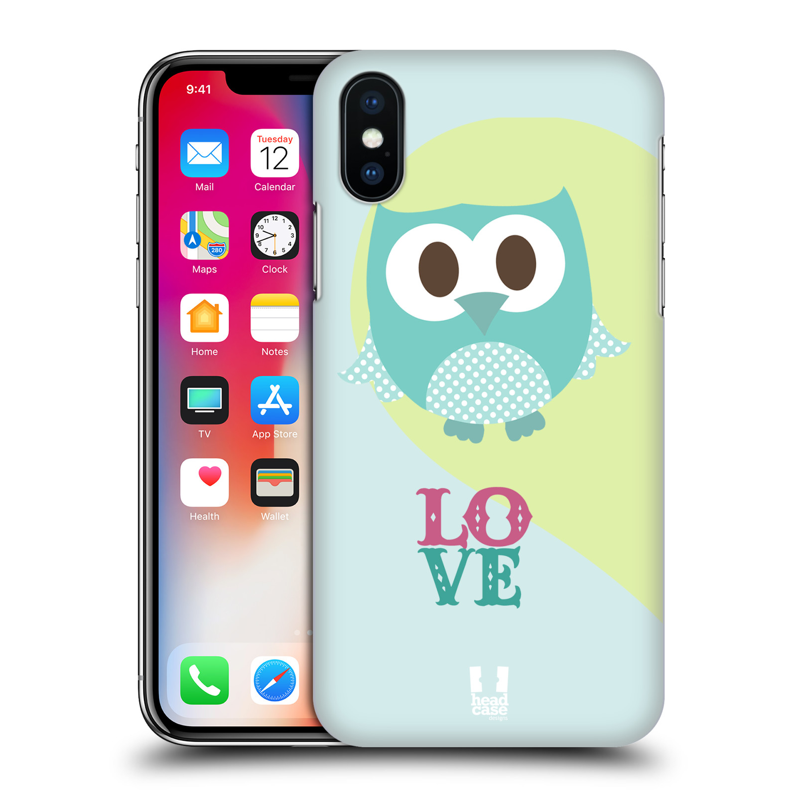 HEAD-CASE-DESIGNS-KAWAII-OWL-HARD-BACK-CASE-FOR-APPLE-iPHONE-X