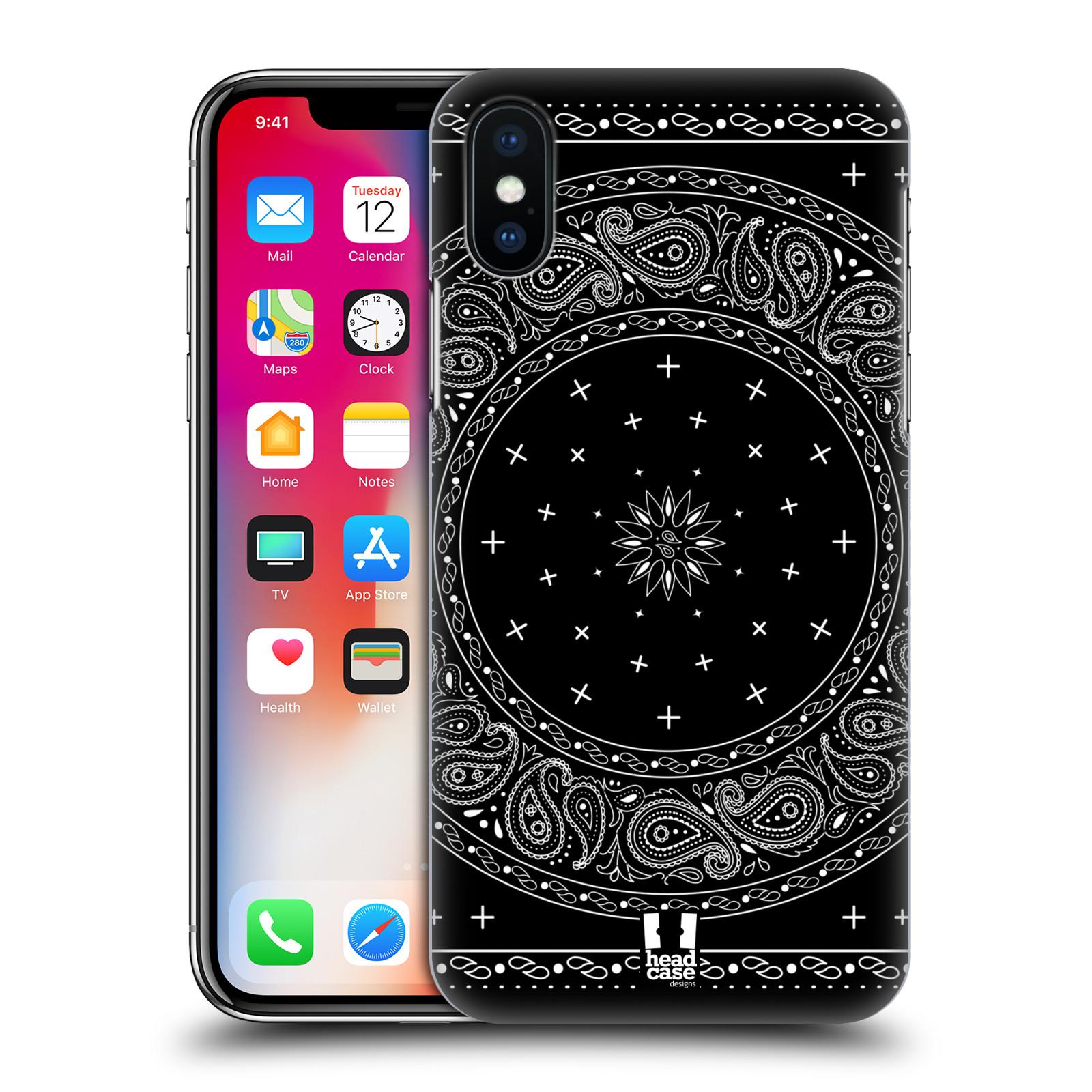 HEAD-CASE-DESIGNS-BANDANA-CACHEMIRE-CLASSIQUE-ETUI-COQUE-POUR-APPLE-iPHONE-X