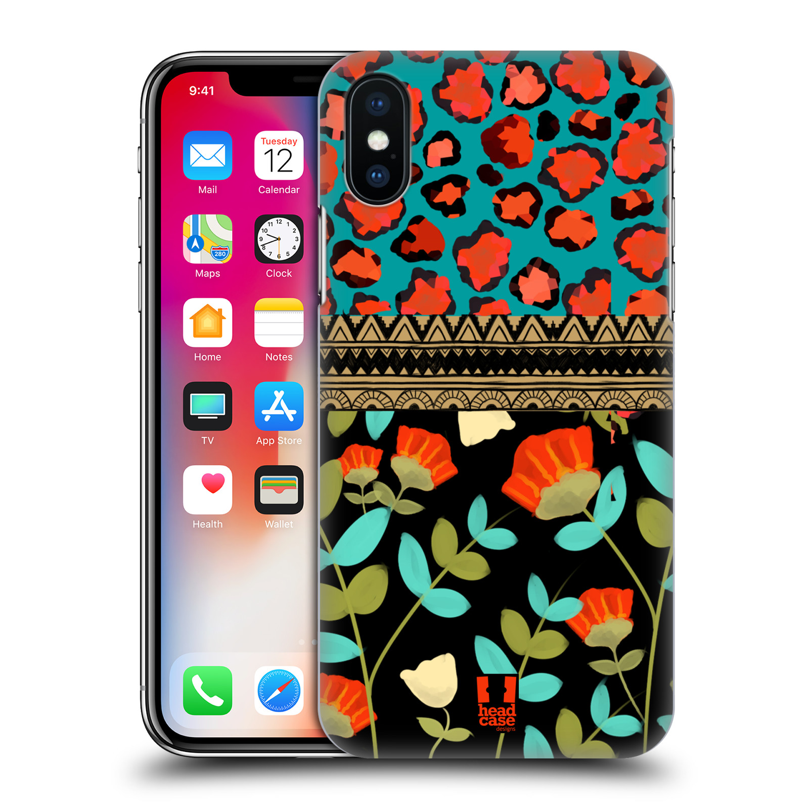 HEAD-CASE-DESIGNS-PATTERN-MIX-HARD-BACK-CASE-FOR-APPLE-iPHONE-X