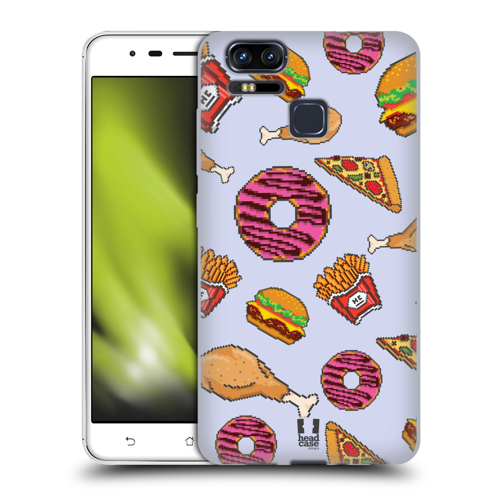 HEAD-CASE-DESIGNS-PIXEL-FOOD-SOFT-GEL-CASE-FOR-ASUS-ZENFONE-3-ZOOM-ZE553KL