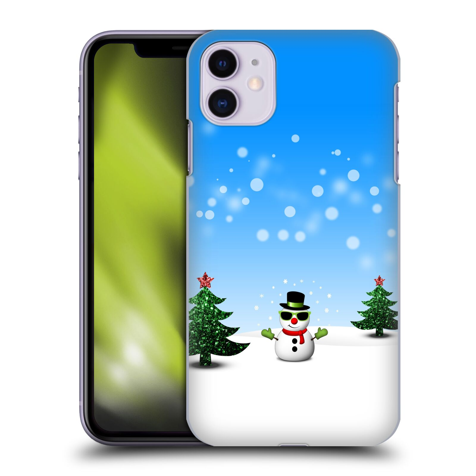 Official PLdesign Christmas Cool Snowman Back Case for Apple iPhone 11