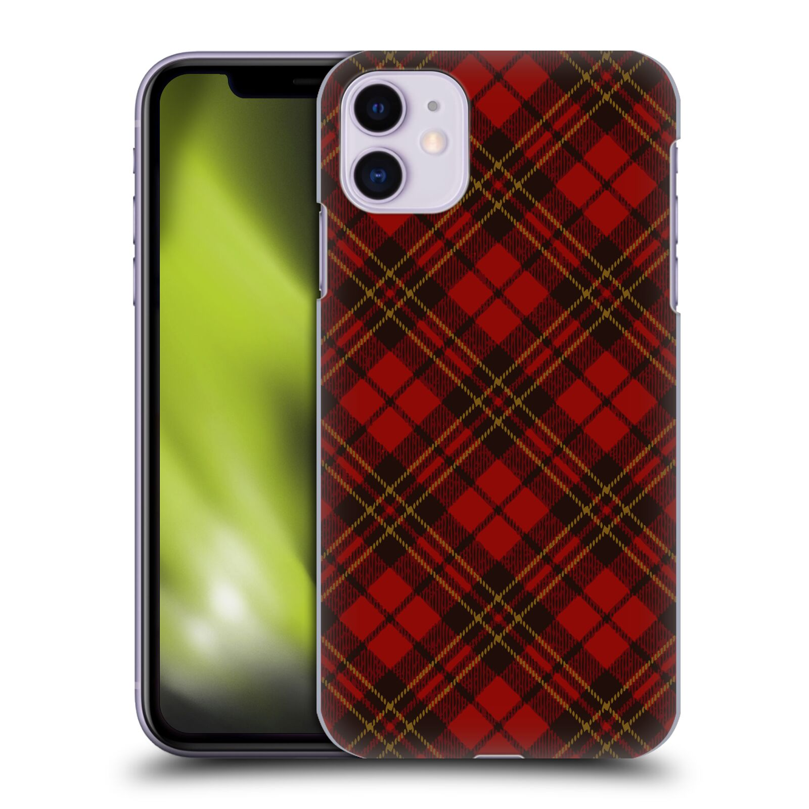 Official PLdesign Christmas Red Tartan Back Case for Apple iPhone 11