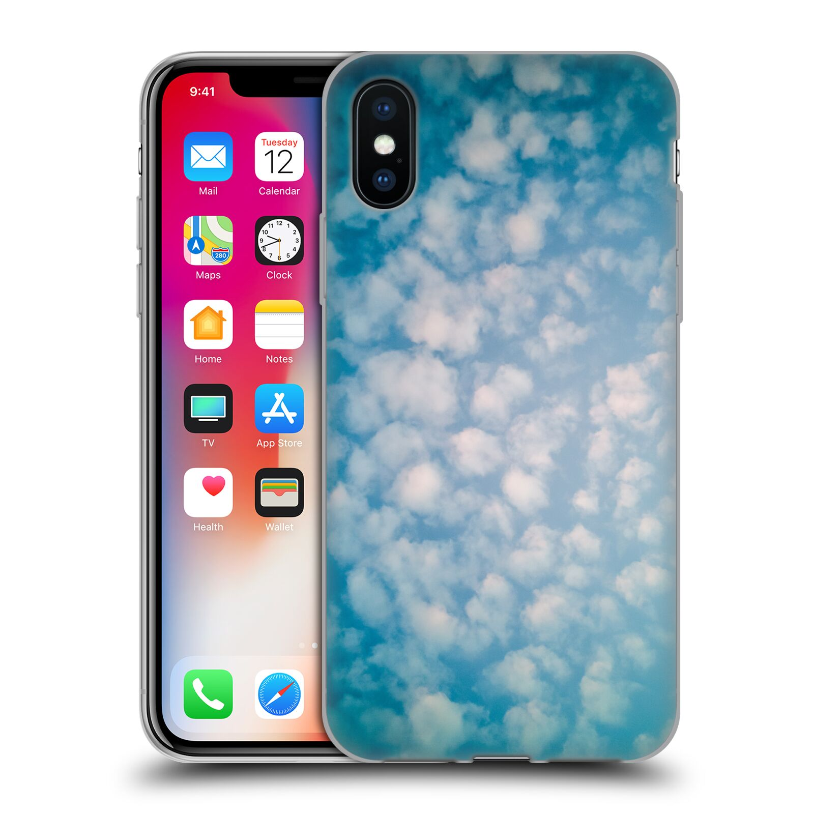Official PLdesign Clouds Altocumulus Gel Case for Apple iPhone X / iPhone XS