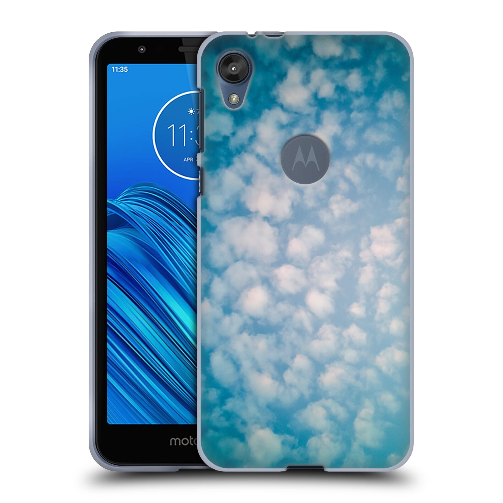 Official PLdesign Clouds Altocumulus Gel Case for Motorola Moto E6