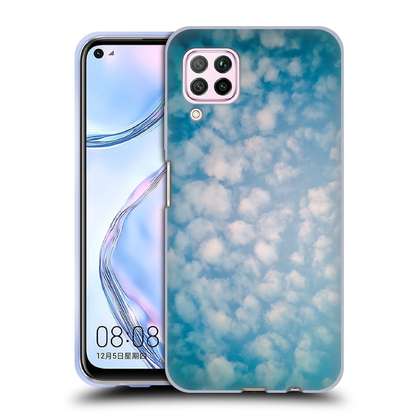Official PLdesign Clouds Altocumulus Gel Case for Huawei Nova 6 SE