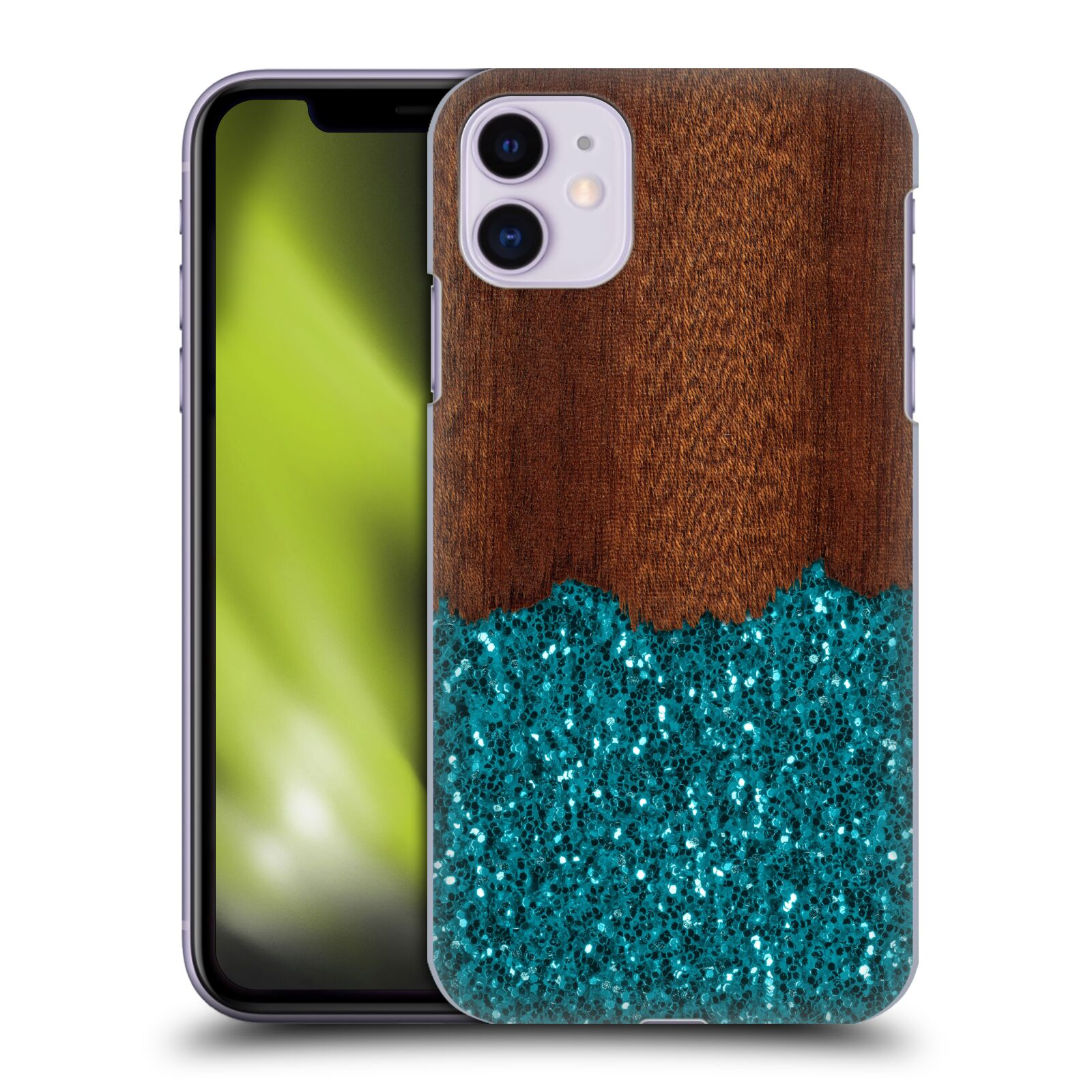 Official PLdesign Glitter Texture Wood Case for Apple iPhone 11
