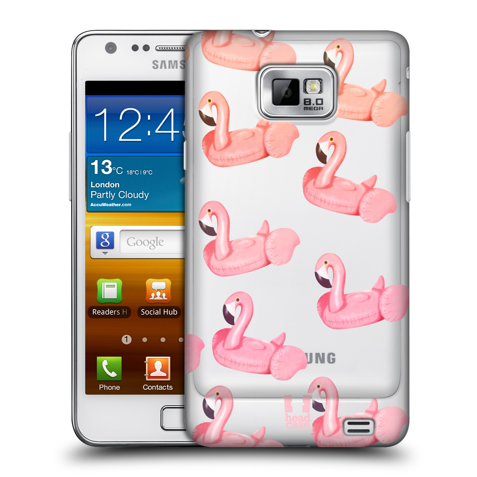 Plastové pouzdro na mobil Samsung Galaxy S II - Head Case - Kruh plaměňák