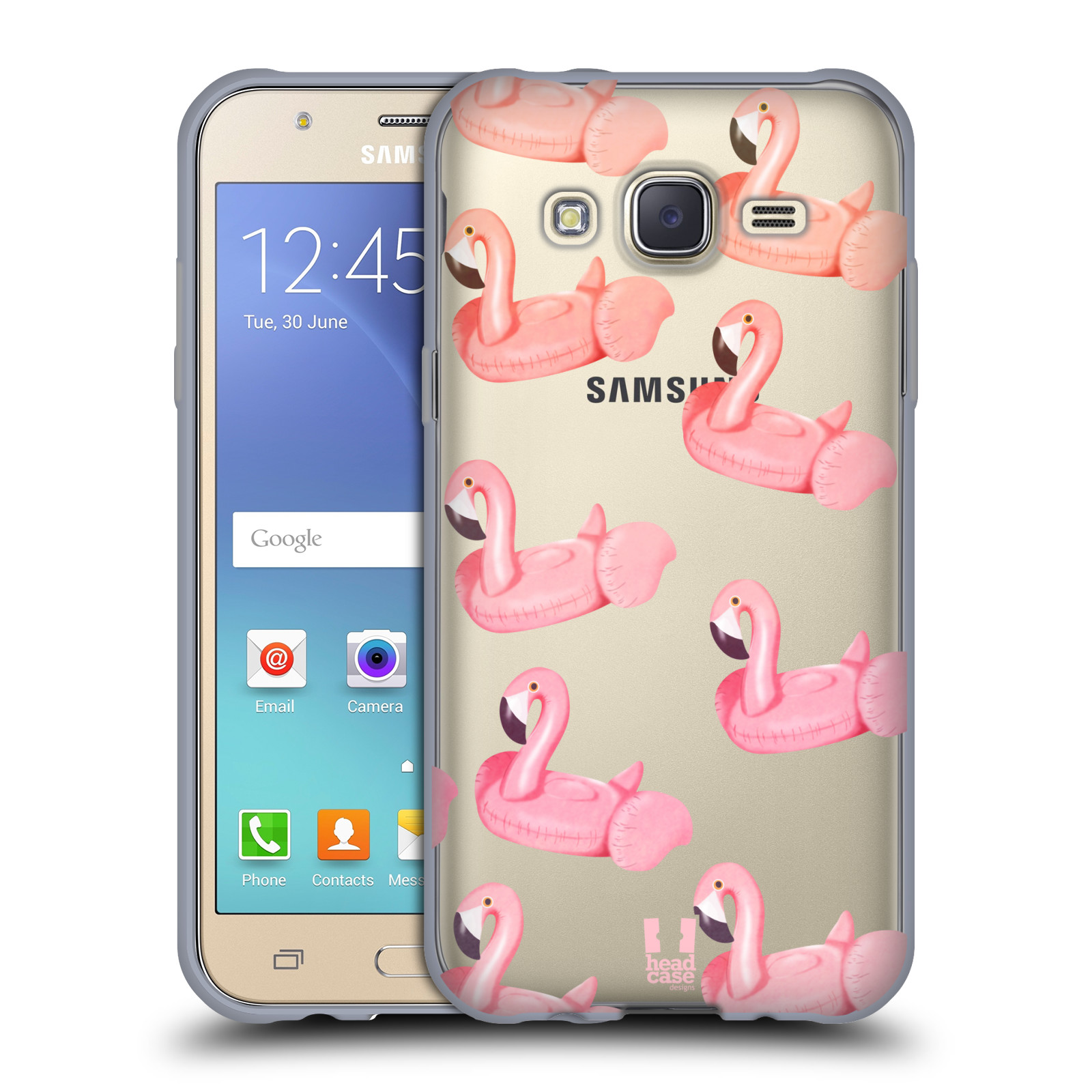 Silikonové pouzdro na mobil Samsung Galaxy J5 - Head Case - Kruh plaměňák