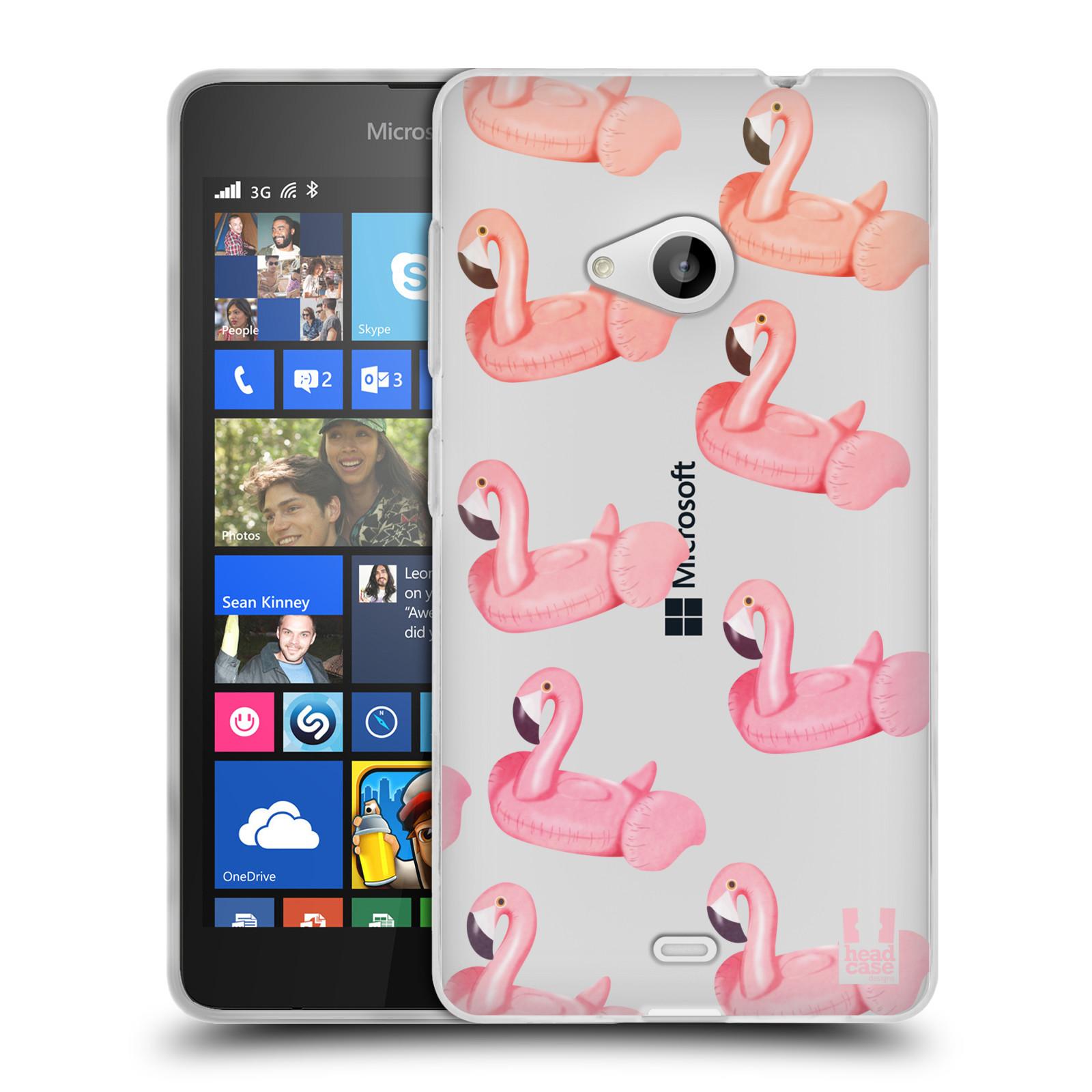 Silikonové pouzdro na mobil Microsoft Lumia 535 - Head Case - Kruh plaměňák