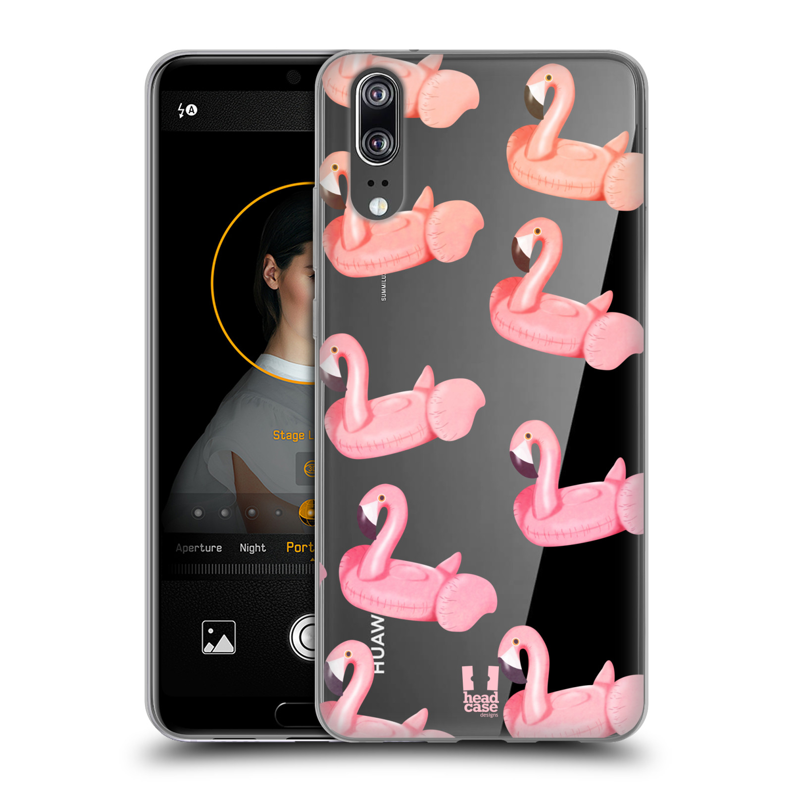 Silikonové pouzdro na mobil Huawei P20 - Head Case - Kruh plaměňák