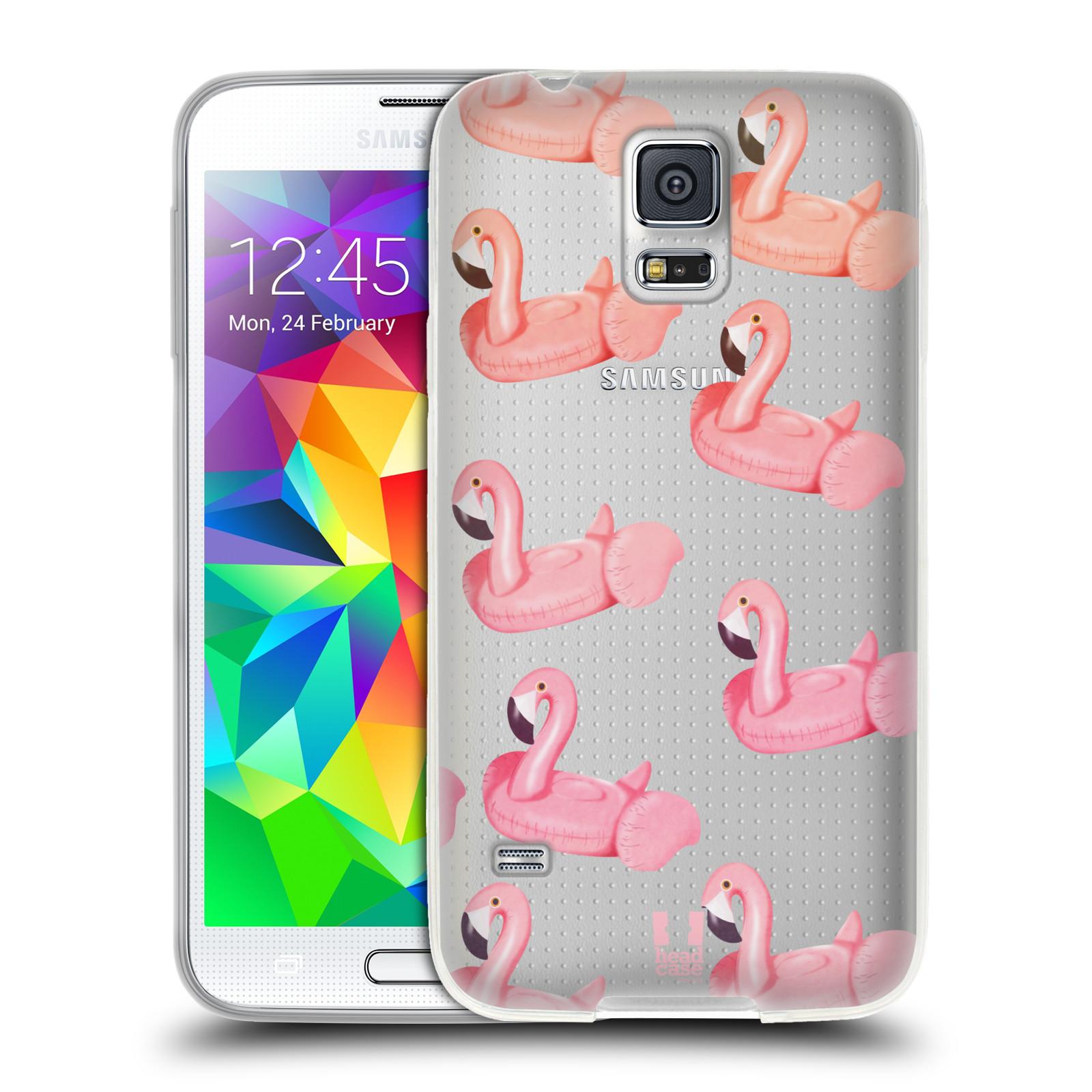 Silikonové pouzdro na mobil Samsung Galaxy S5 Neo - Head Case - Kruh plaměňák