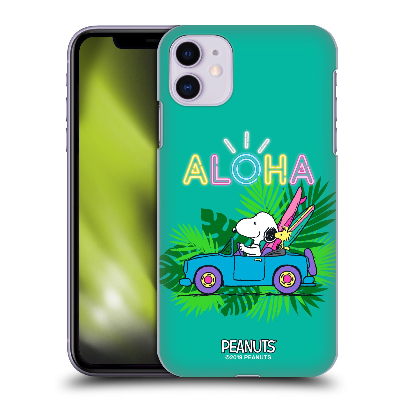 Officiel Peanuts Snoopy Aloha Disco Surf Tropical Étui Coque D'Arrière Pour Apple iPhone 11