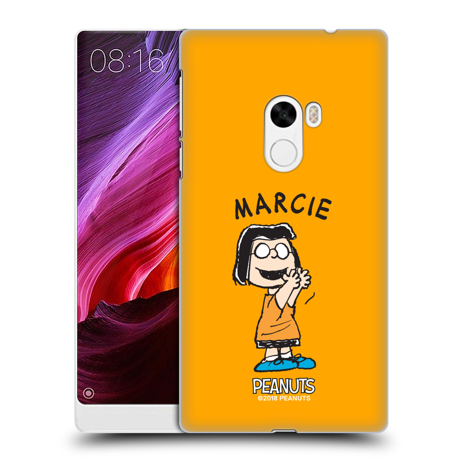 Oficial-Peanuts-caracteres-Funda-Rigida-posterior-para-Telefonos-Xiaomi