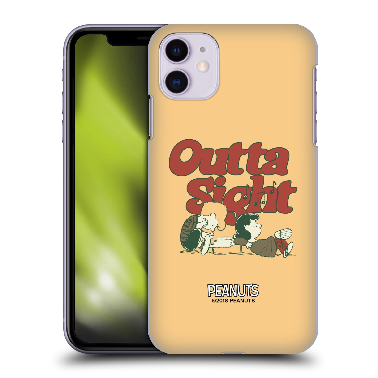Officiel Peanuts Woodstock 50th Schroeder Lucy Outta Sight Étui Coque D'Arrière Pour Apple iPhone 11