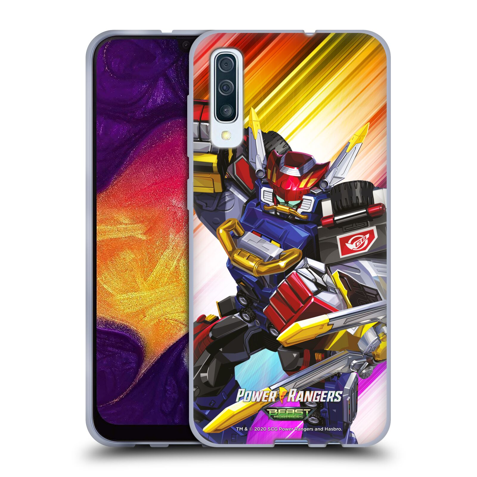 Official Power Rangers Beast Morphers Characters Megazord Gel Case for Samsung Galaxy A50s (2019)