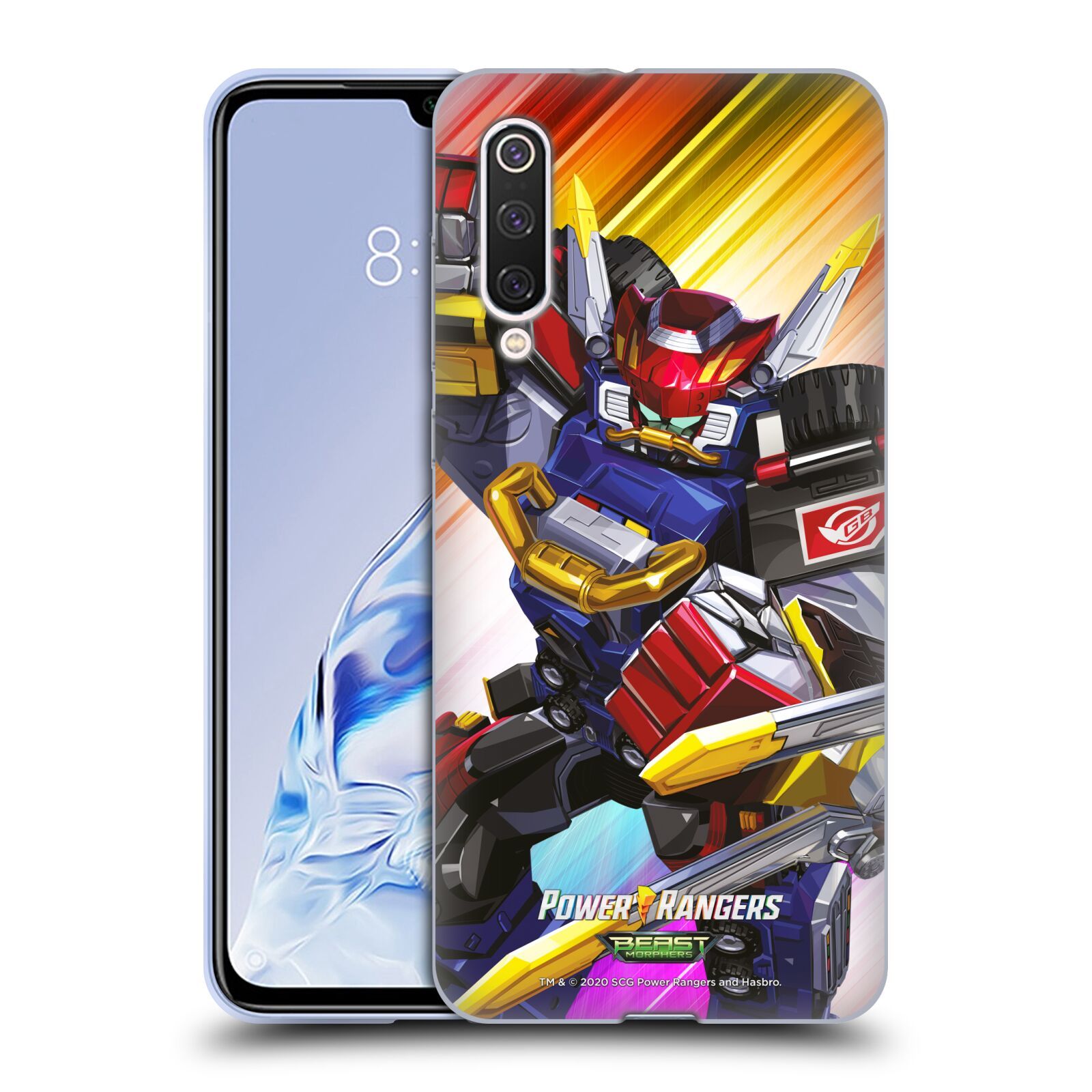 Official Power Rangers Beast Morphers Characters Megazord Gel Case for Xiaomi Mi 9 Pro / 5G