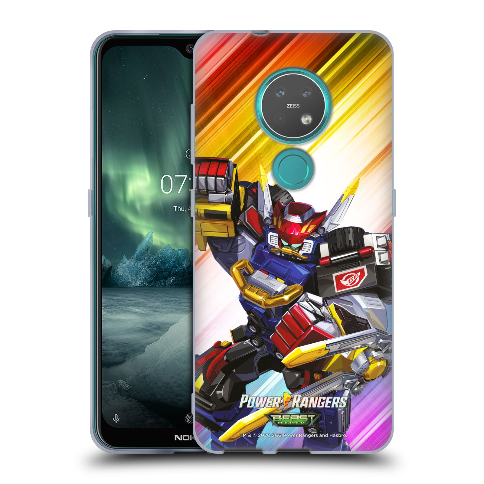 Official Power Rangers Beast Morphers Characters Megazord Gel Case for Nokia 7.2