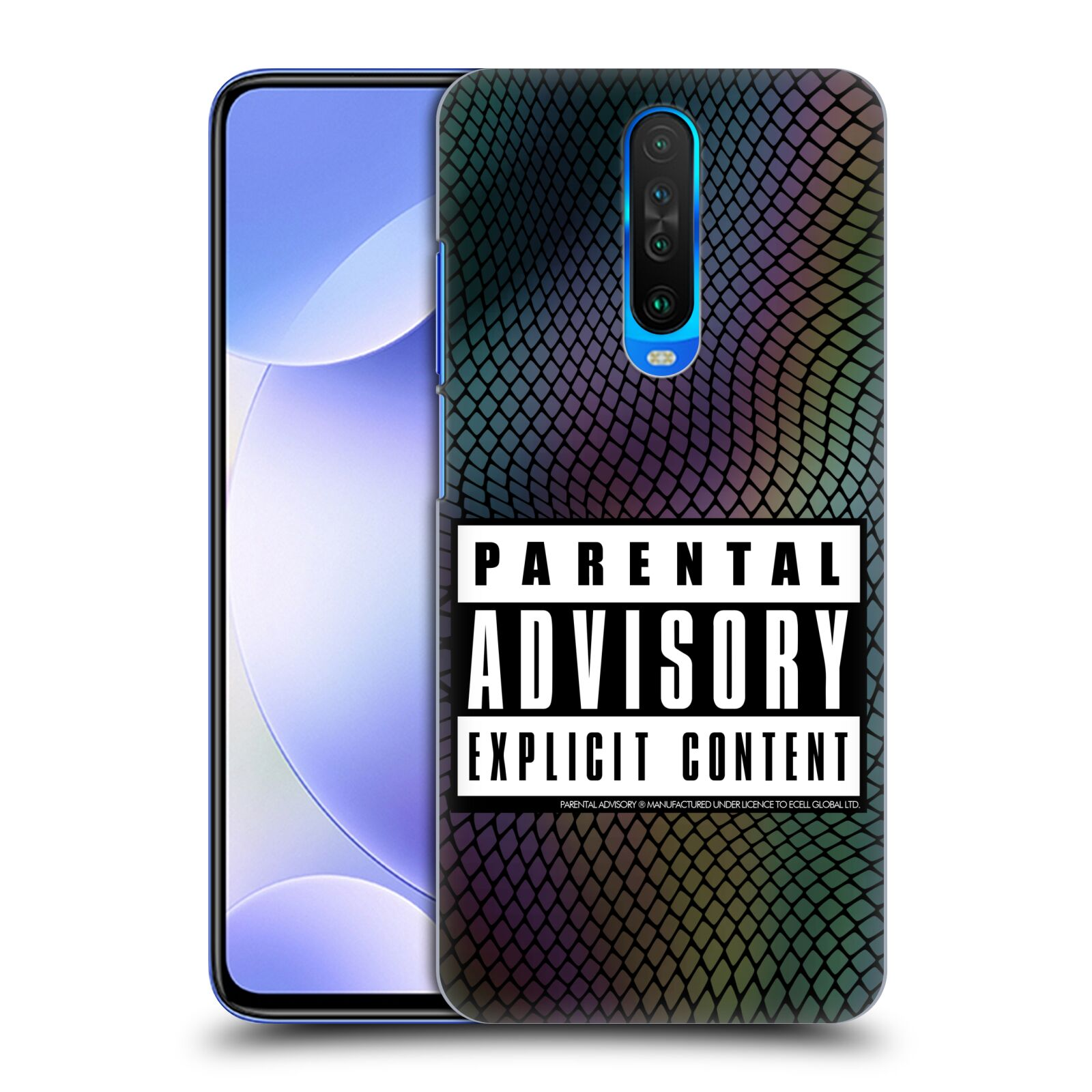 Official Parental Advisory Punk Rock Black Snake Back Case for Xiaomi Redmi K30 / 5G