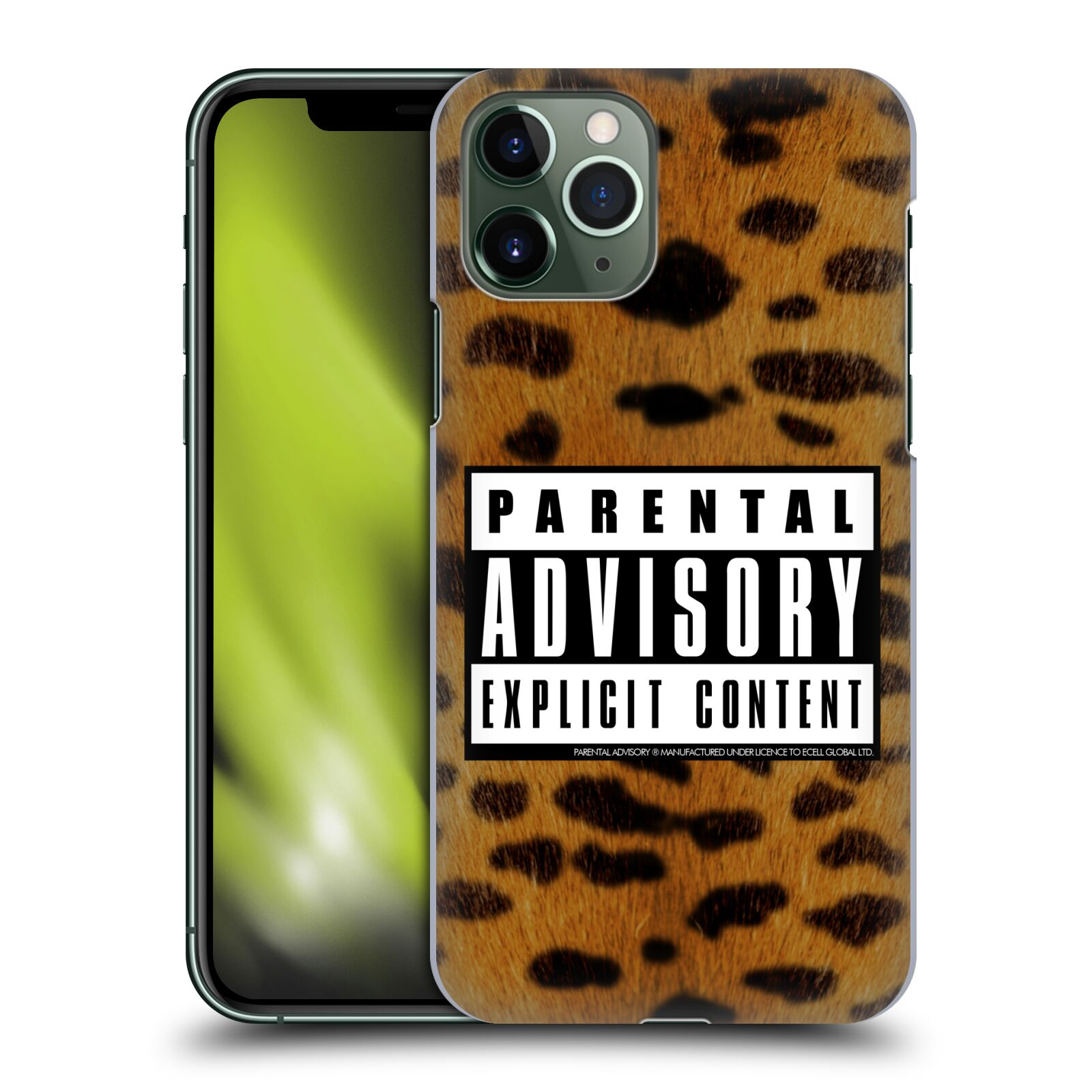 Offizielle Parental Advisory Punk Rock Leopard Hülle für Apple iPhone 11 Pro