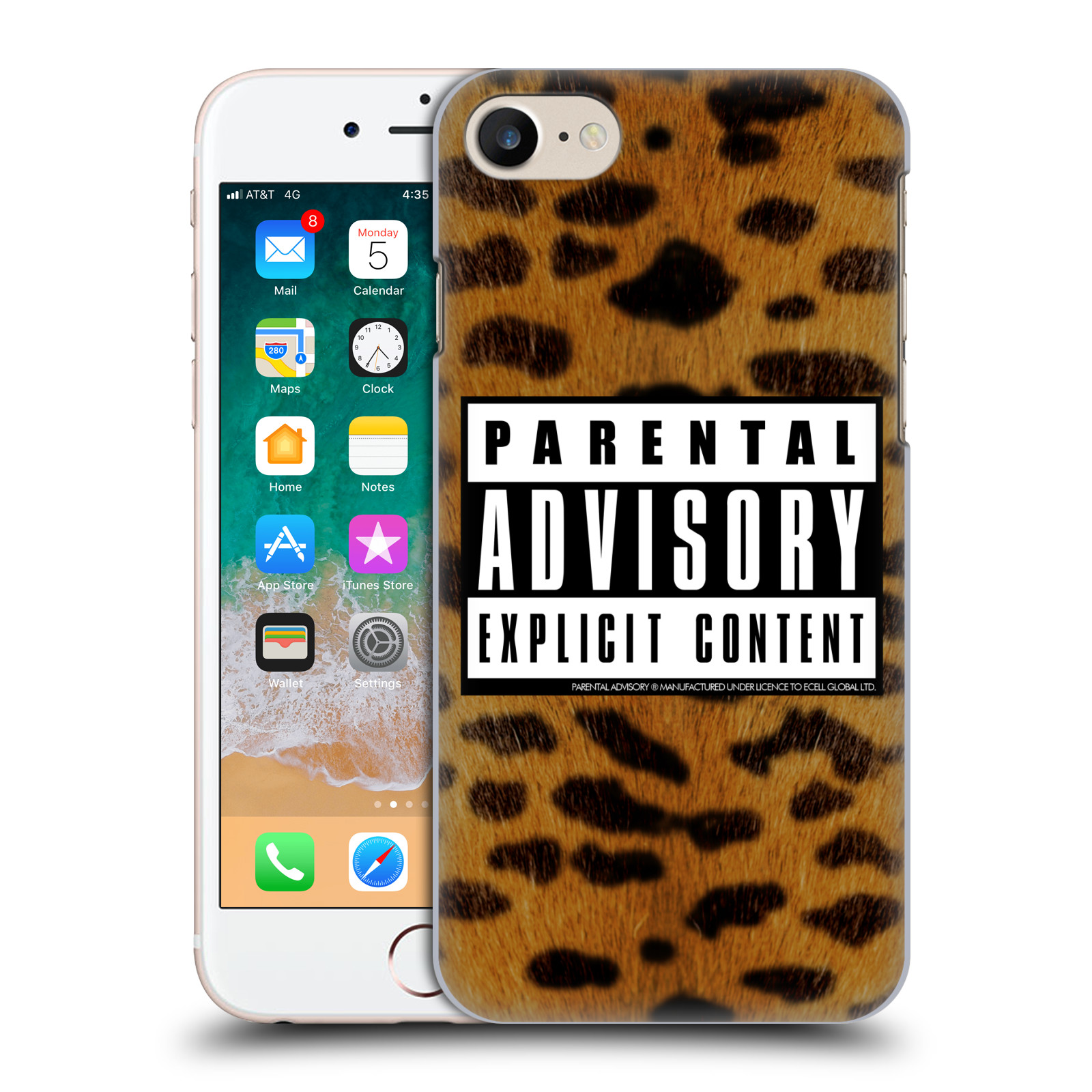 Offizielle Parental Advisory Punk Rock Leopard Hülle für Apple iPhone 7 / 8 / iPhone SE 2020
