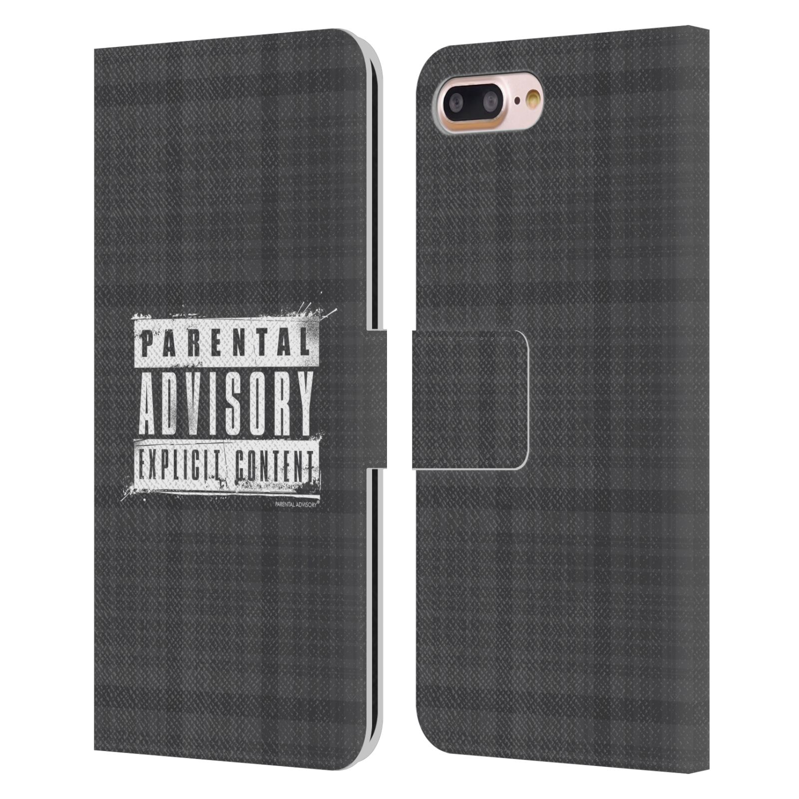 Offizielle Parental Advisory Punk Rock Schottentuch Brieftasche Hülle aus Leder für Apple iPhone 7 Plus / iPhone 8 Plus