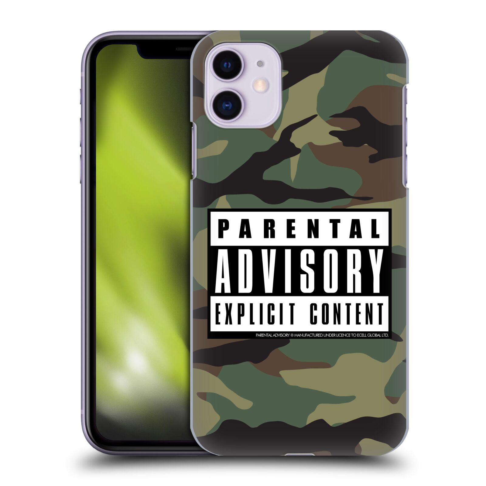Official Parental Advisory Urban Street Style Camouflage Case for Apple iPhone 11