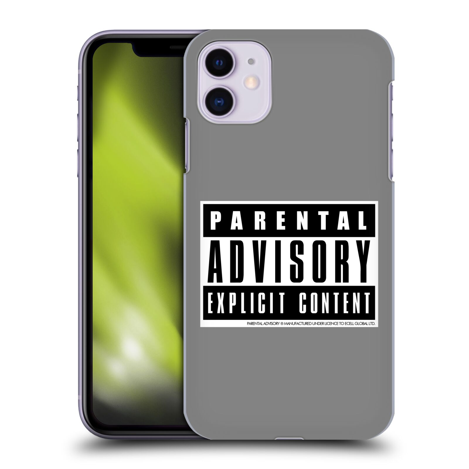 Official Parental Advisory Urban Street Style Grey Case for Apple iPhone 11